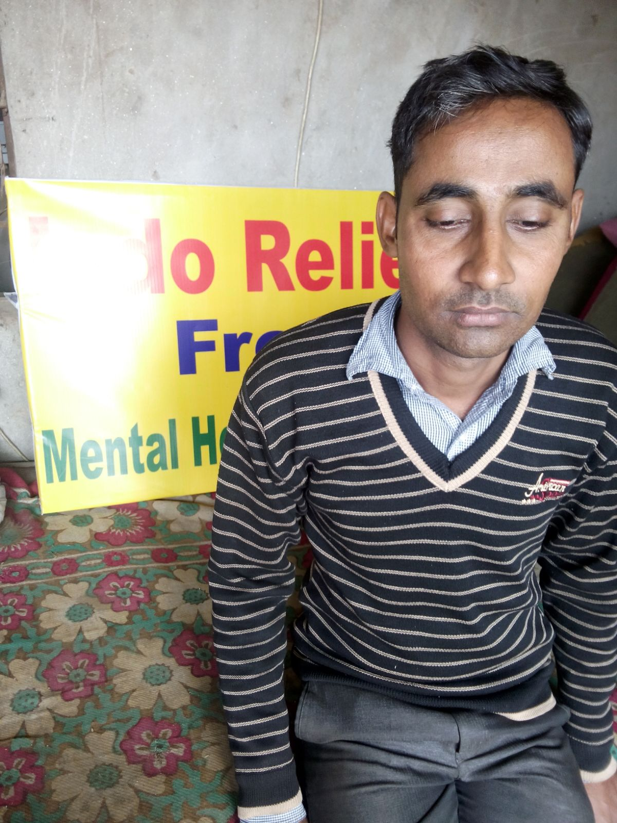Meet Muhammad. He is 40 years old and suffers from depression. He tells us that he often thinks of hurting himself.