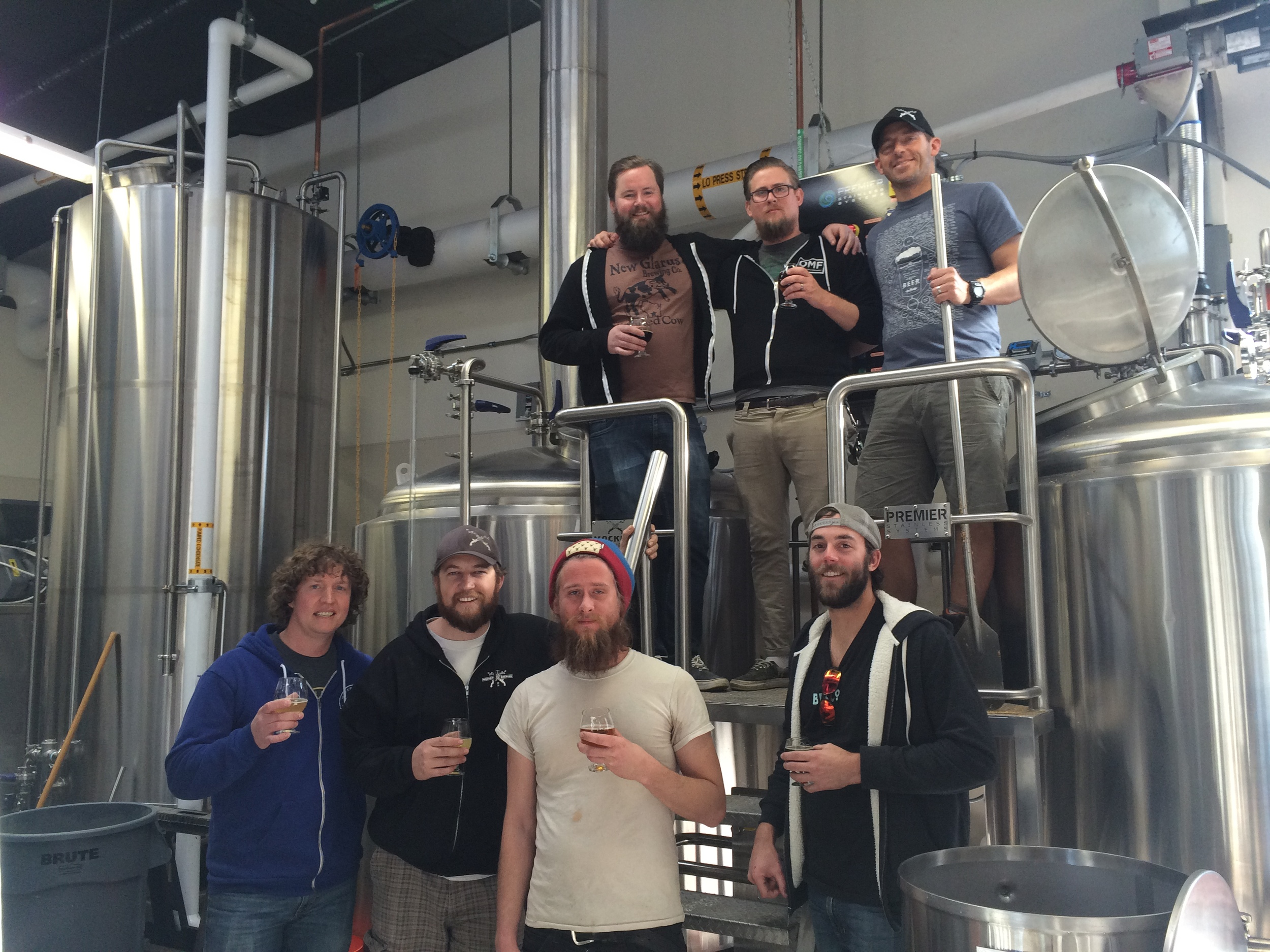 The RiNo beer crew collaborating on brew day!