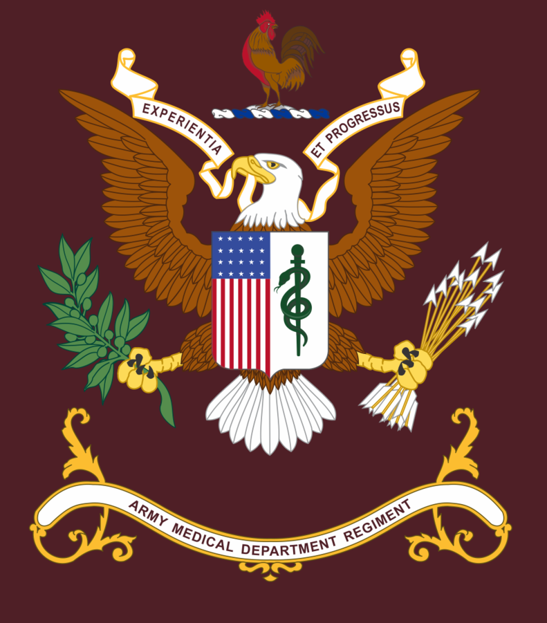 U.S. Army Medical Command RegimentalFlag. Don't ask about the rooster...