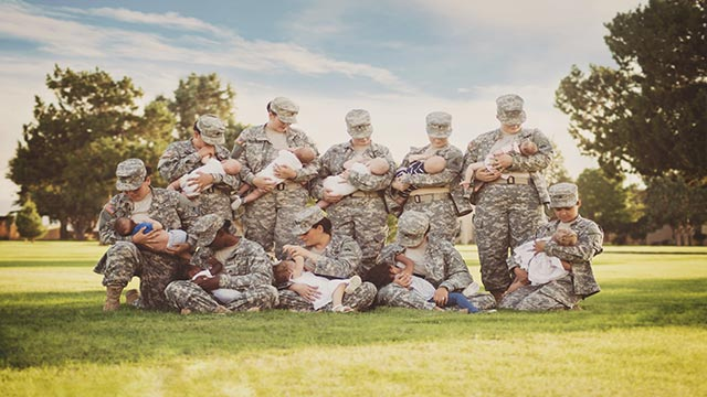 Former airwoman Tara Ruby photographed active duty soldiers at Fort Bliss in El Paso, Texas, September 2015.