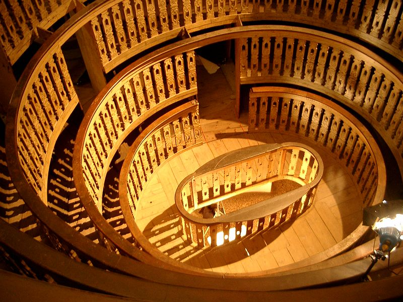 Anatomical Theatre, Palazzo del Bo, at the University of Padua. It was built in 1594 by the anatomist who helped found modern embryology, Girolamo Fabricius. From  here .