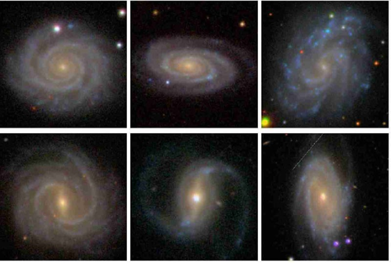 Left and right handed galaxies. From  here .