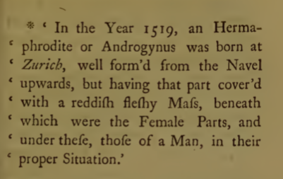James Parsons,  A Mechanical and Critical Inquiry into the Nature of Hermaphrodites.  London 1797. p85.