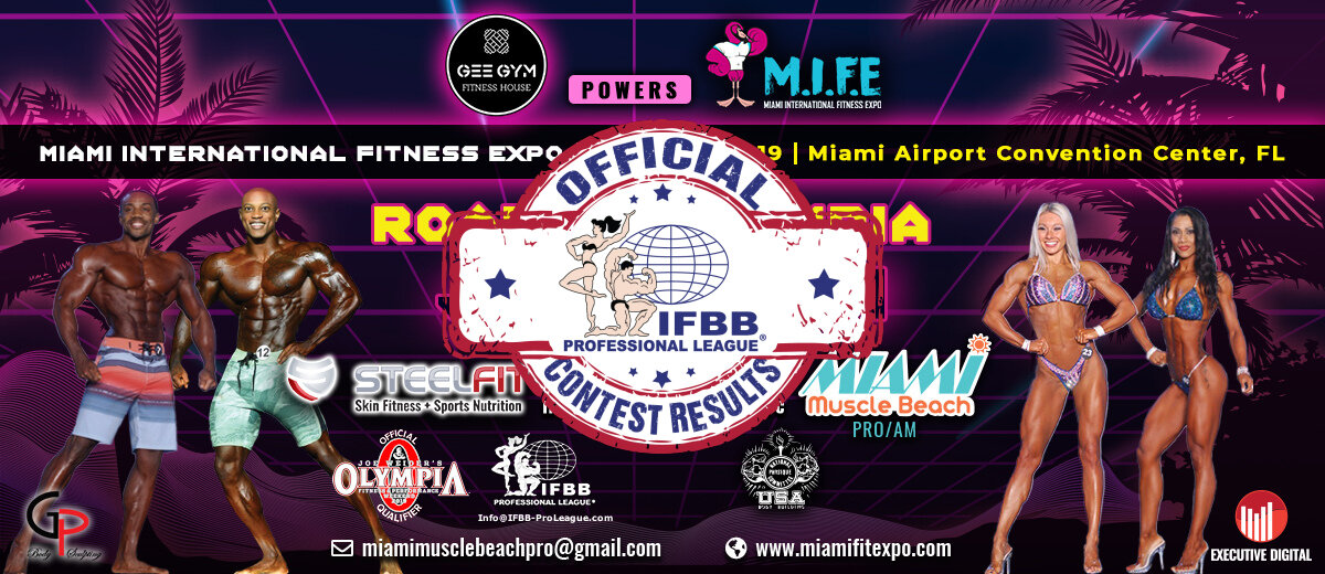IFBBPRO.COM - OFFICIAL IFBB MIAMI MUSCLE BEACH PRO CONTEST RESULTS