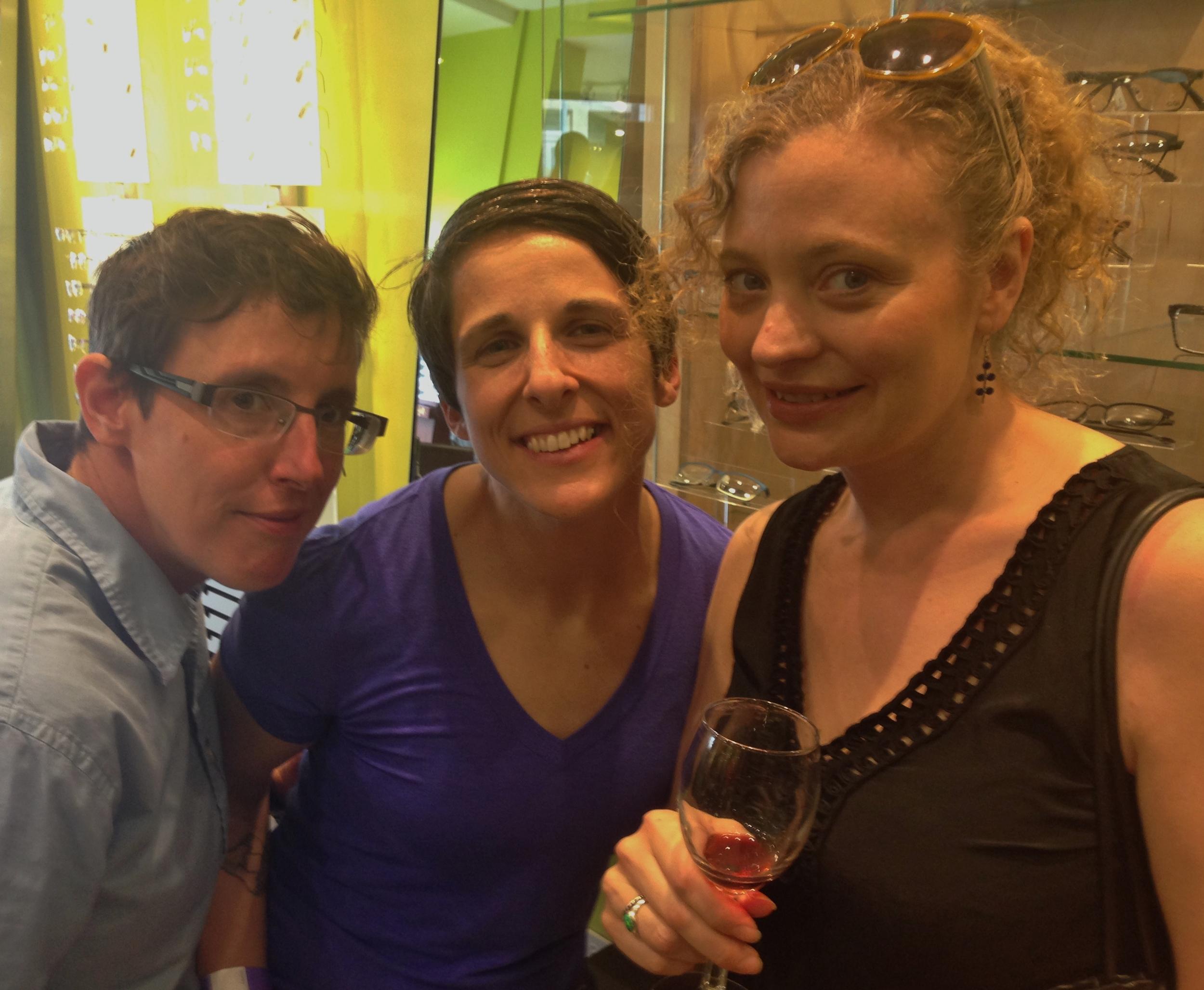 Happy wine walkers.