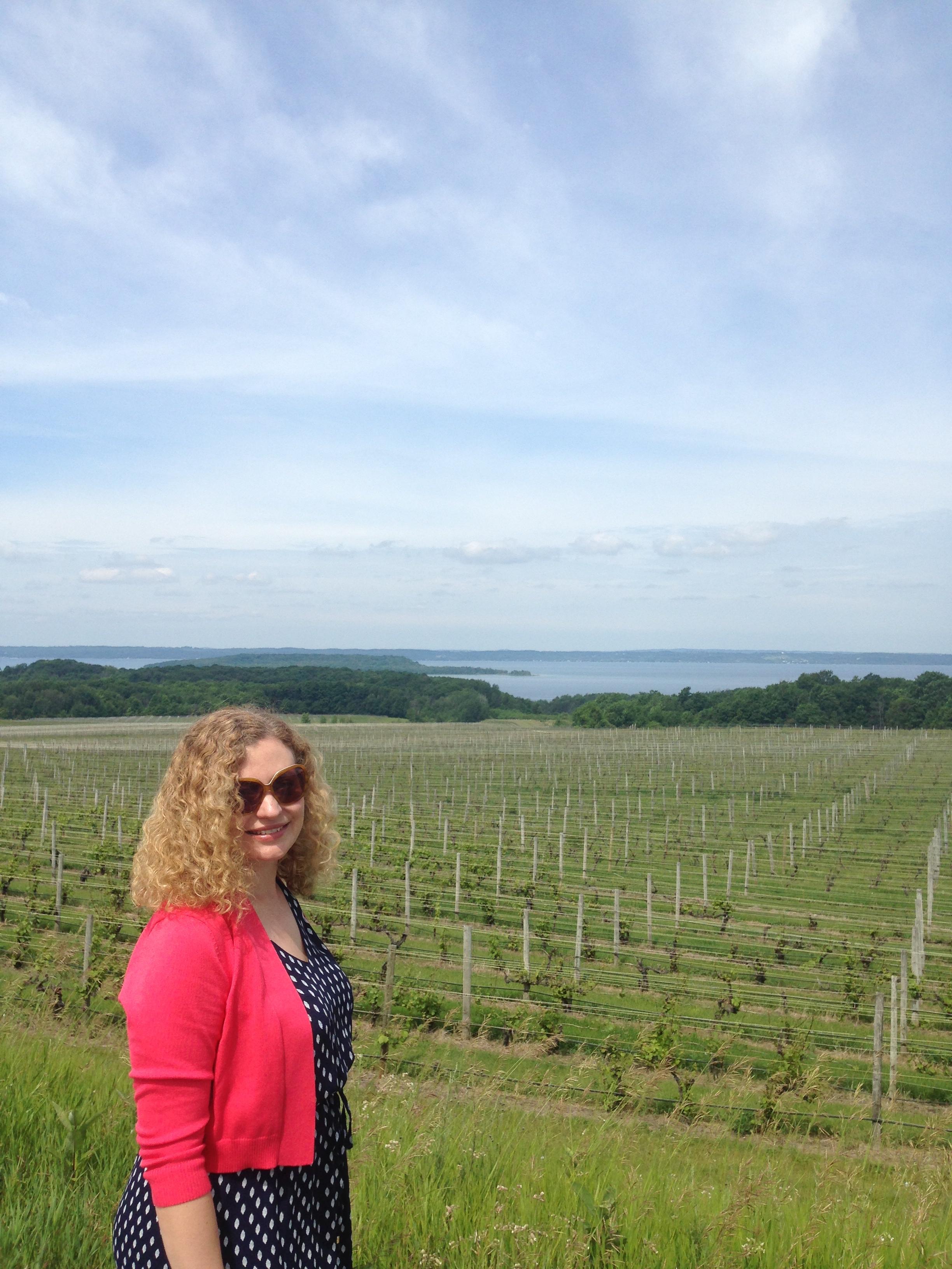 One happy wine traveler!