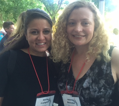 Maria Frangieh and I at the Wine Bloggers Conference in Lodi, CA, August 2016. Photo by Gabriel Manzo.