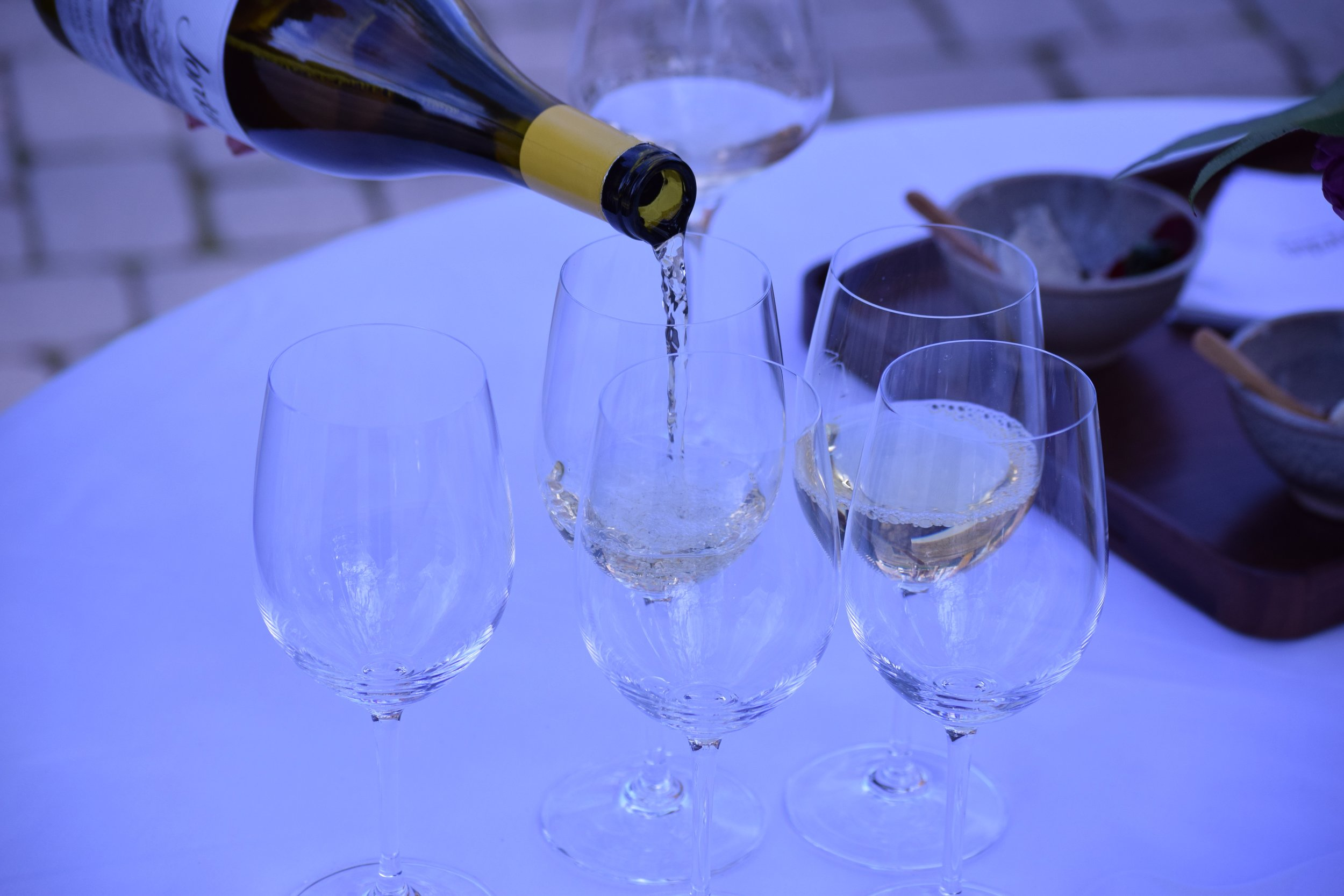 The 2014 Jordan Chardonnay from The Russian River Valley being poured. Photo by Gabriel Manzo.