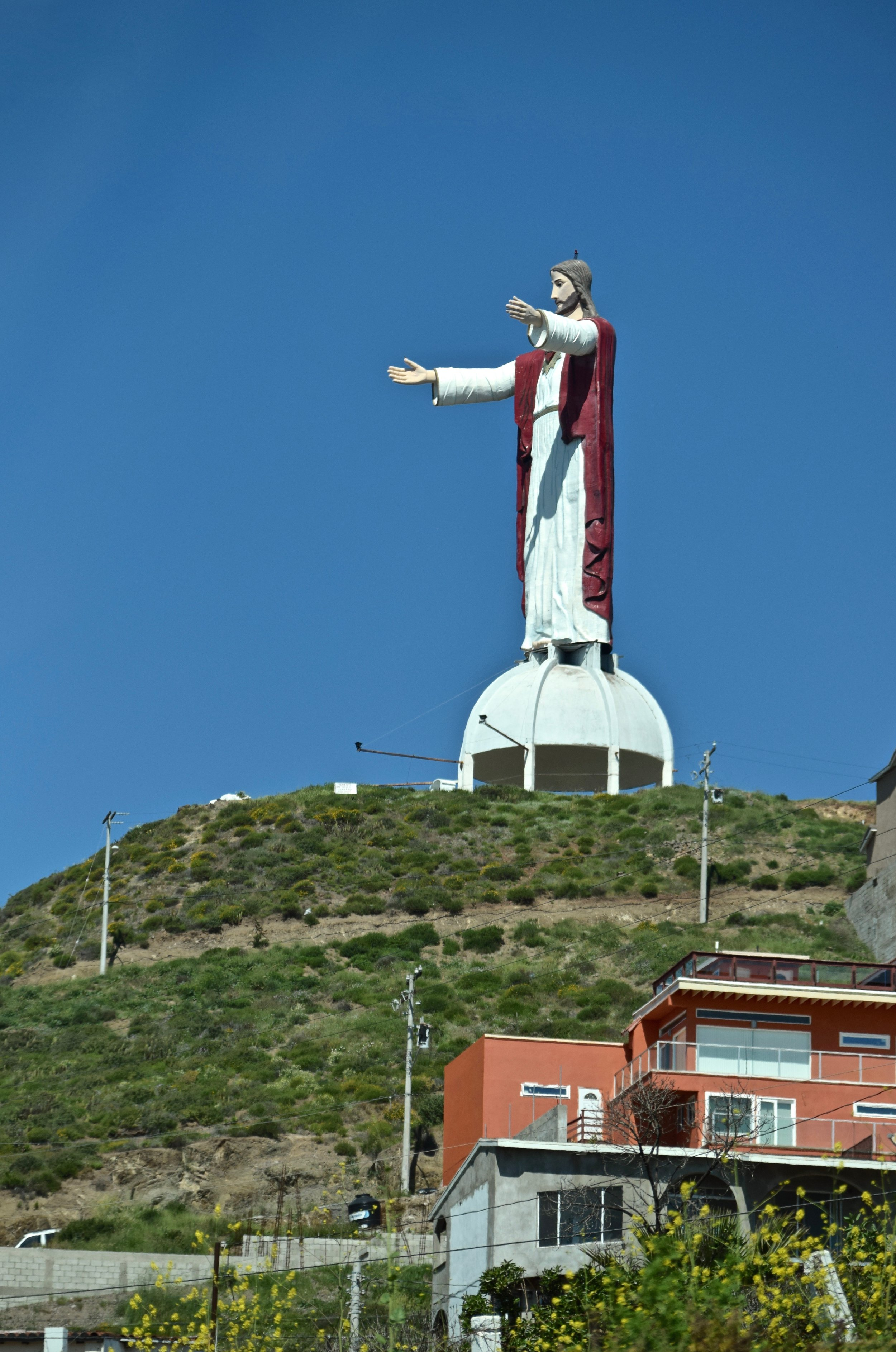 """""""Come to Jesus"""", on the drive down the coast. Photo by Gabriel Manzo."""