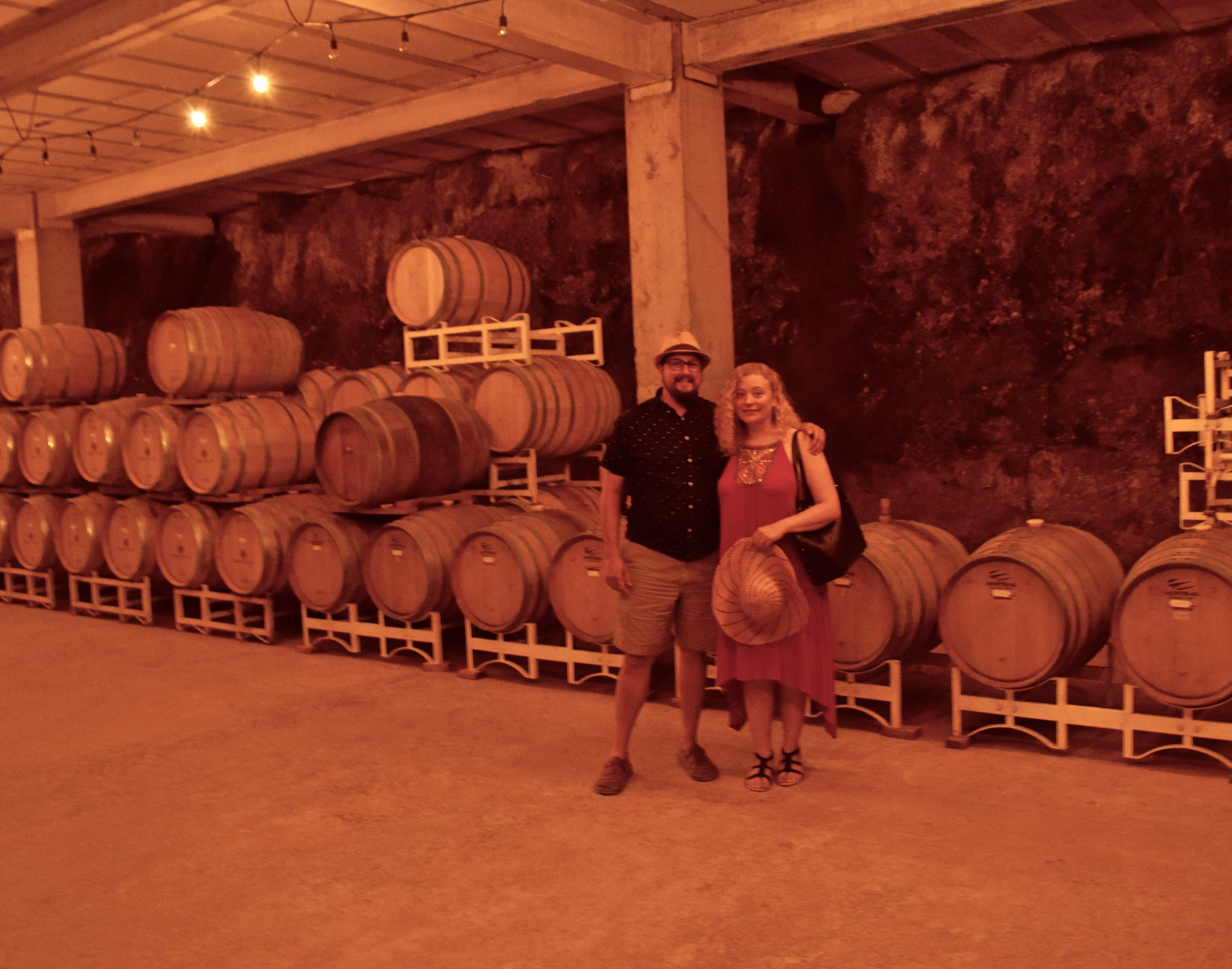 baron belch'e- joanna & gabe infront of barrels.jpg