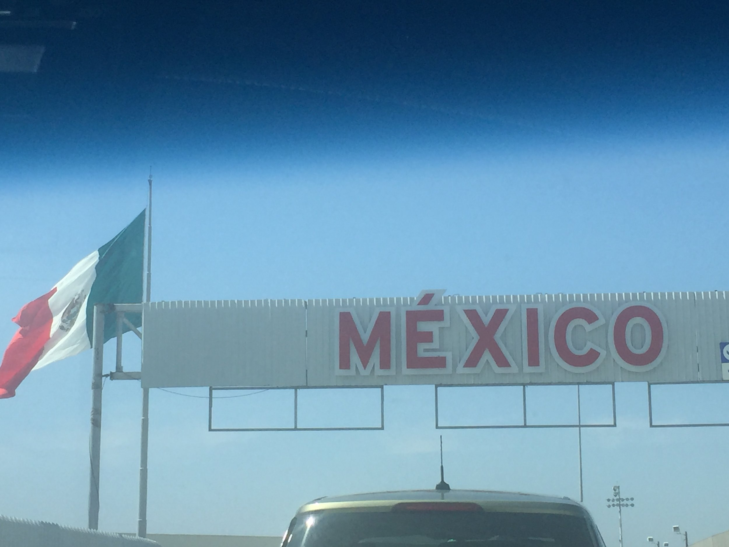 Crossing the border.