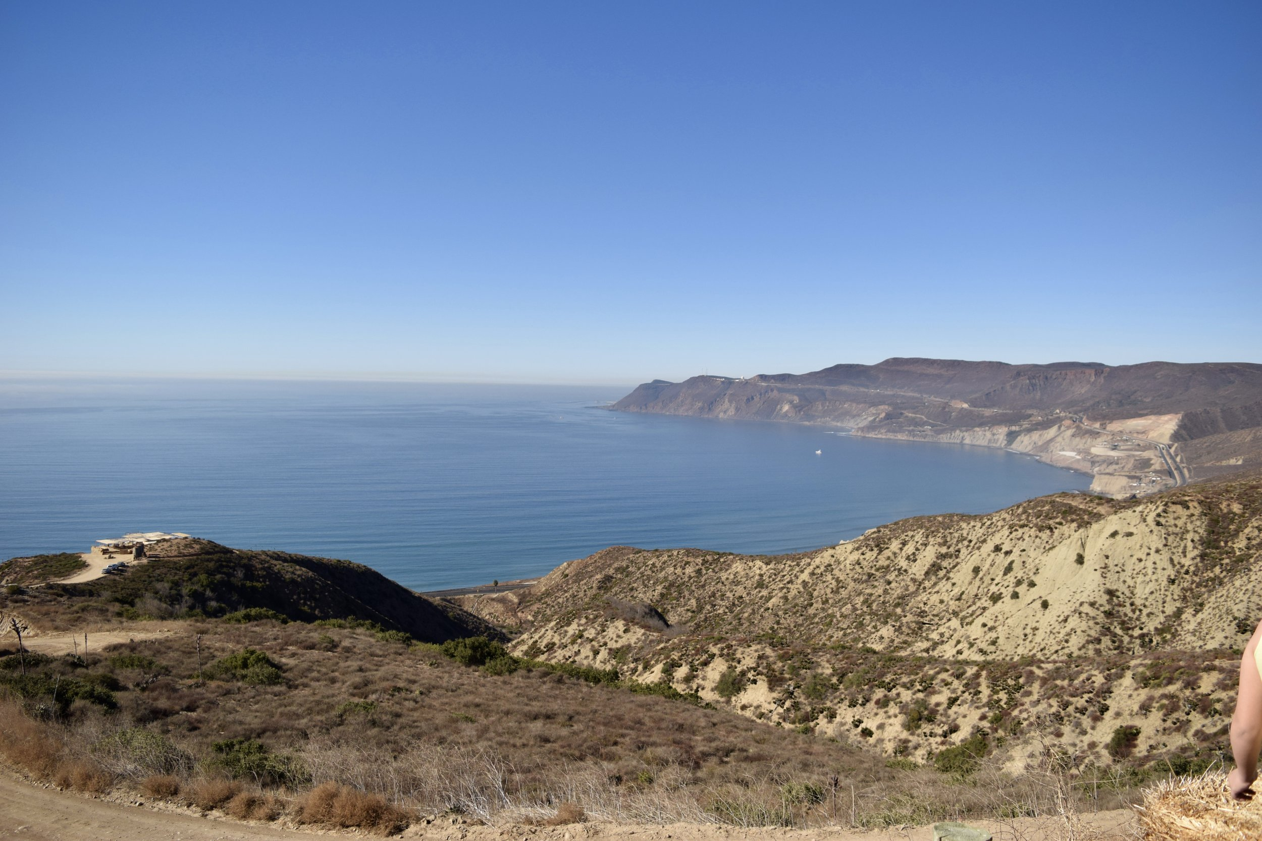 The scenic coast highway near Ensenada, Mexico.
