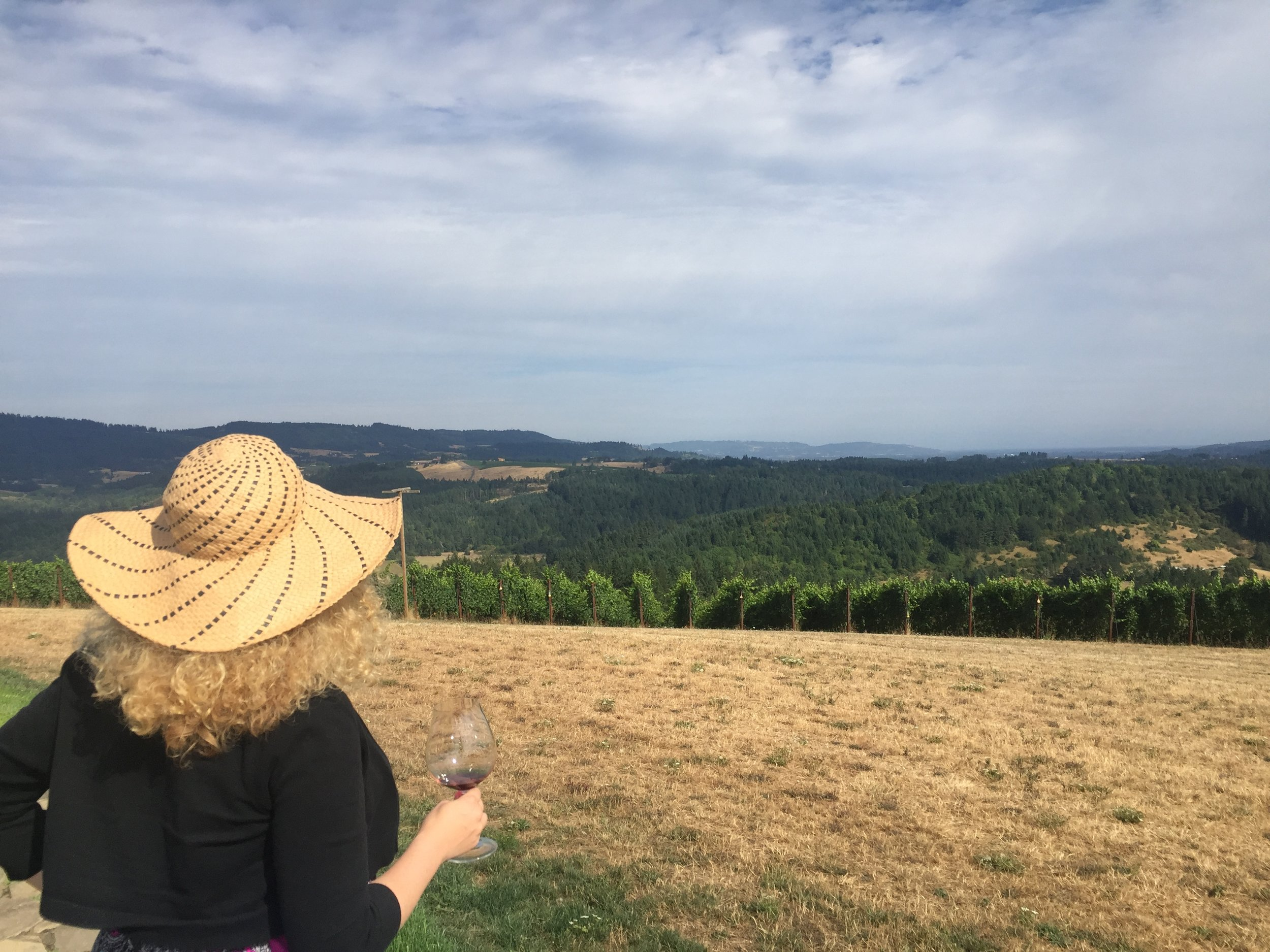 Overlooking The Willamette Valley. Photo by Gabriel Manzo.