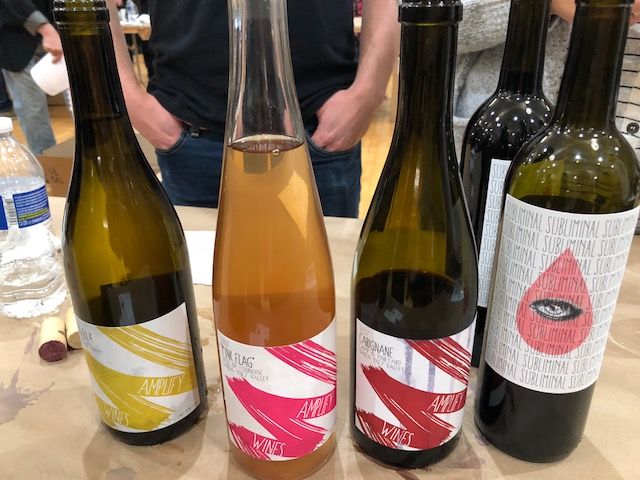 Amplify Wines - Third Coast Soif, Chicago, March 2018. Cameron and Marlen Porter, a husband and wife team born and raised in Santa Barbara County, their motto is,