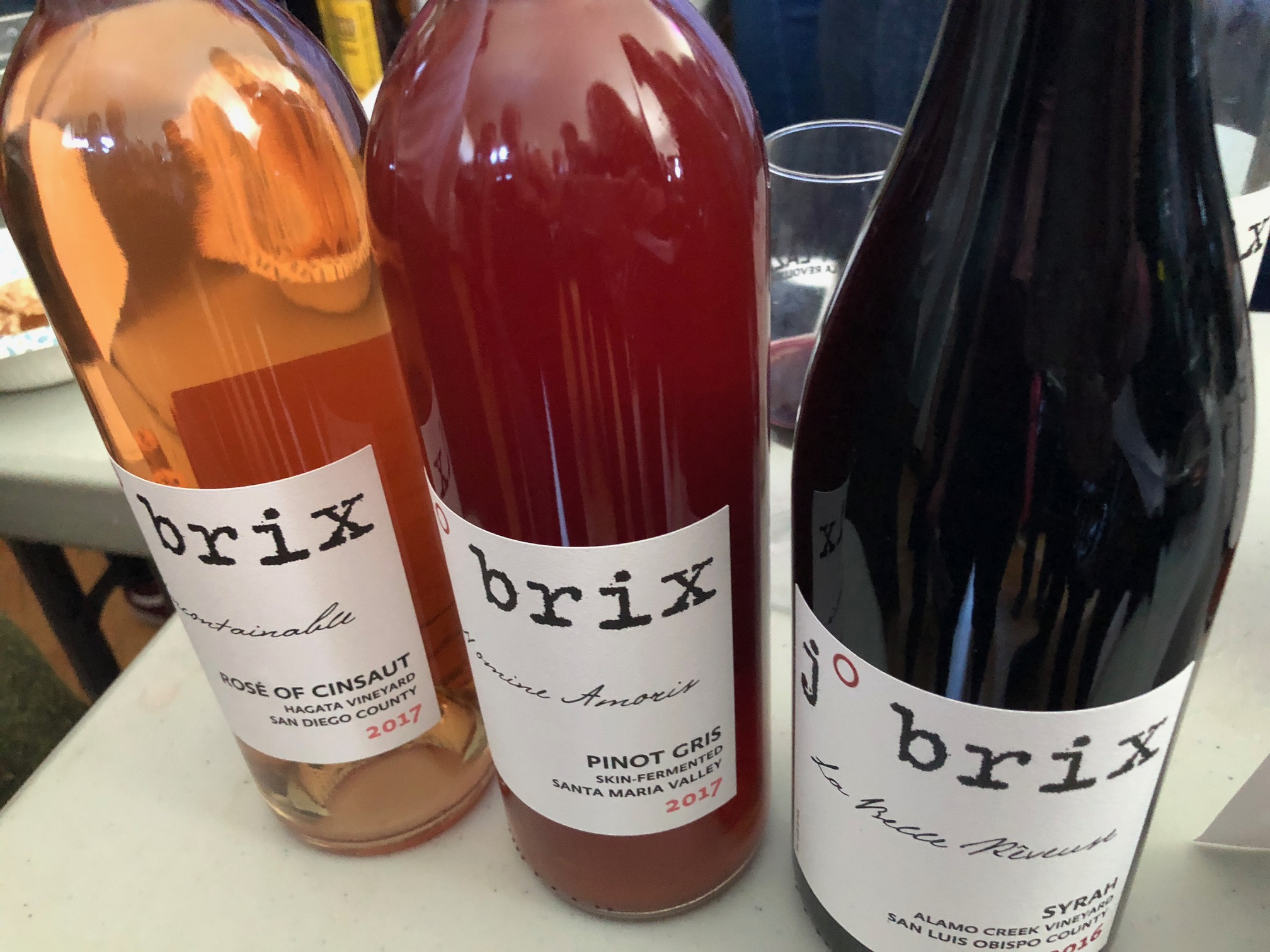 j brix - Brumaire in Oakland, CA March 2018, Husband and wife team, Jody Brix Towe and Emily Towe make wine in Escondido, CA explaining,