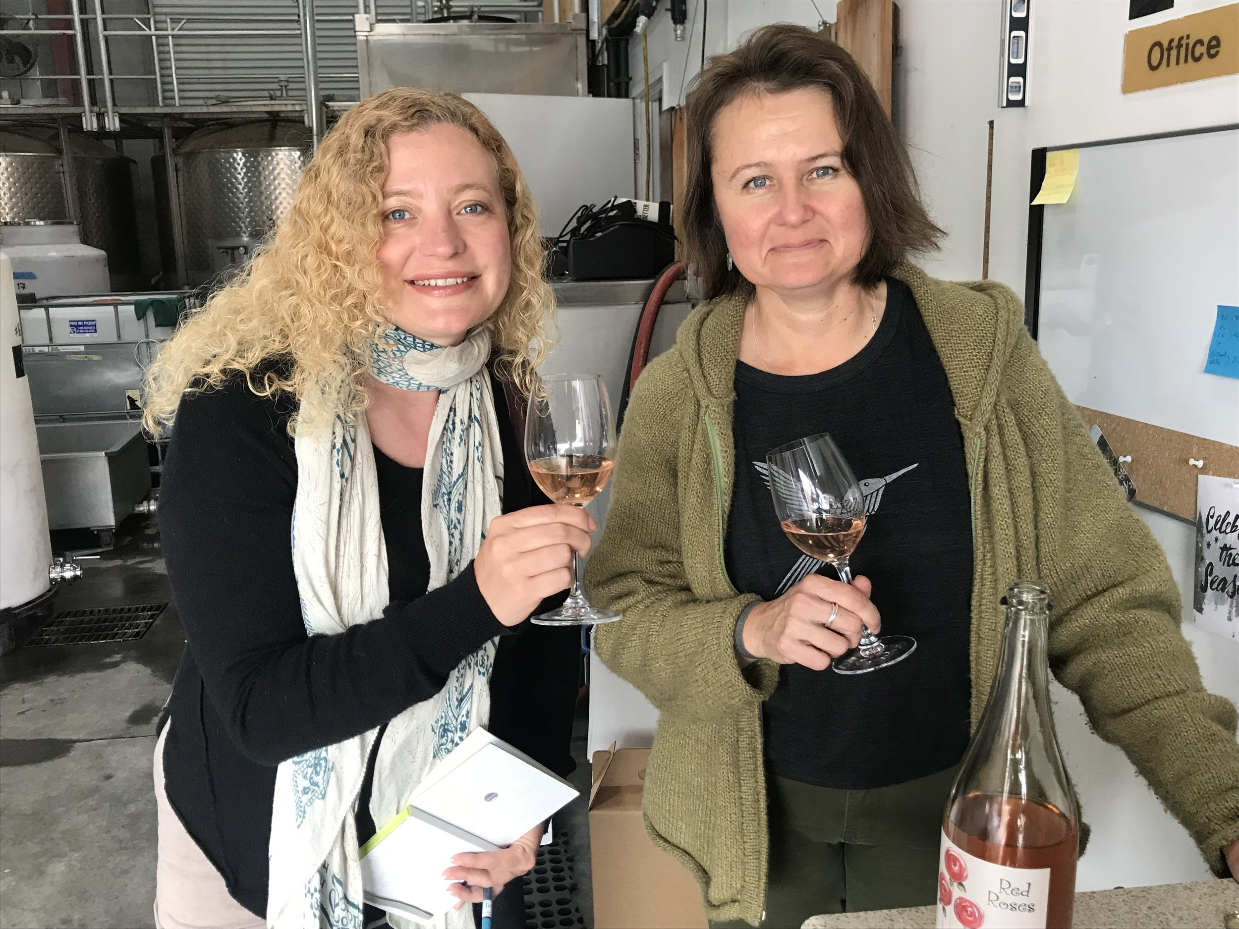 Cheers to Anette and Cima Collina. Photo by Gabriel Manzo.