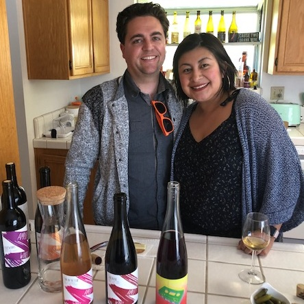 Cameron and Marlen Porter, natural winemakers at Amplify Wines.