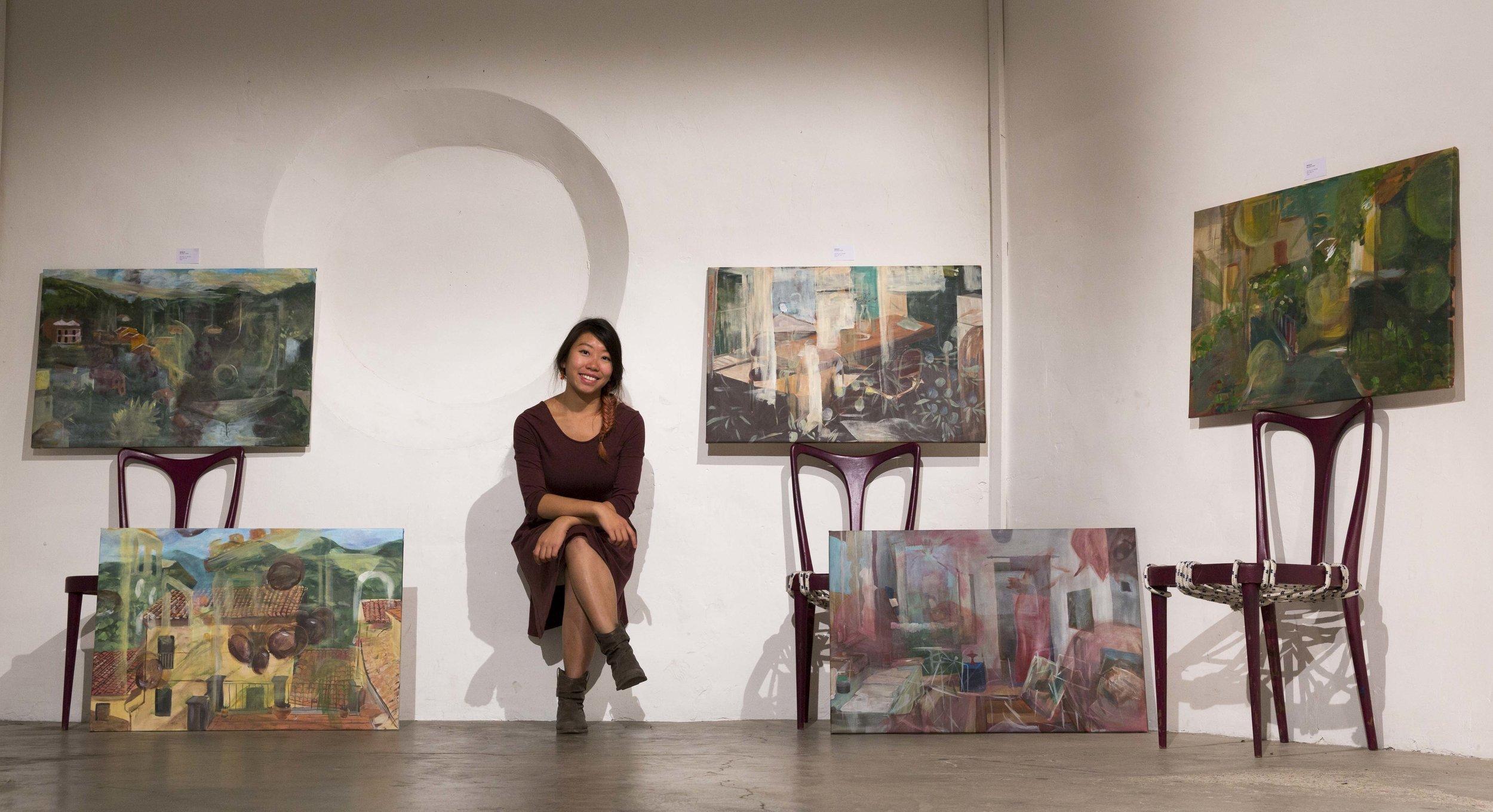 Open Studio , Toffia (RI), Italy in October 2017