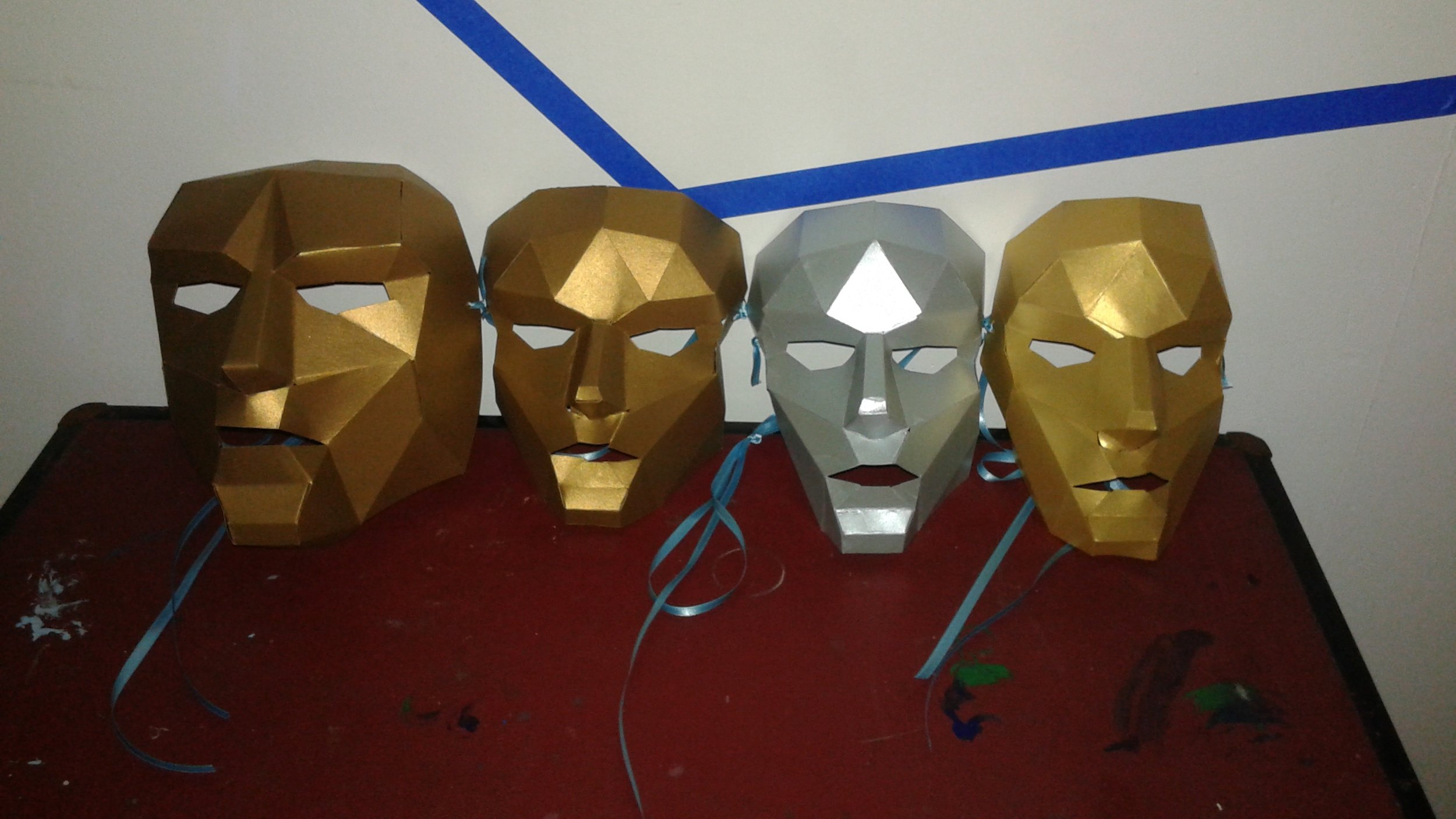 The masks for The Rollers