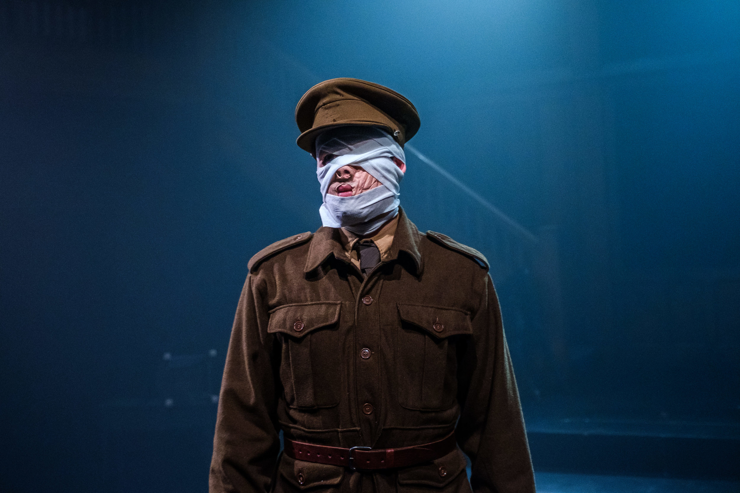 The Soldier, with bandaging