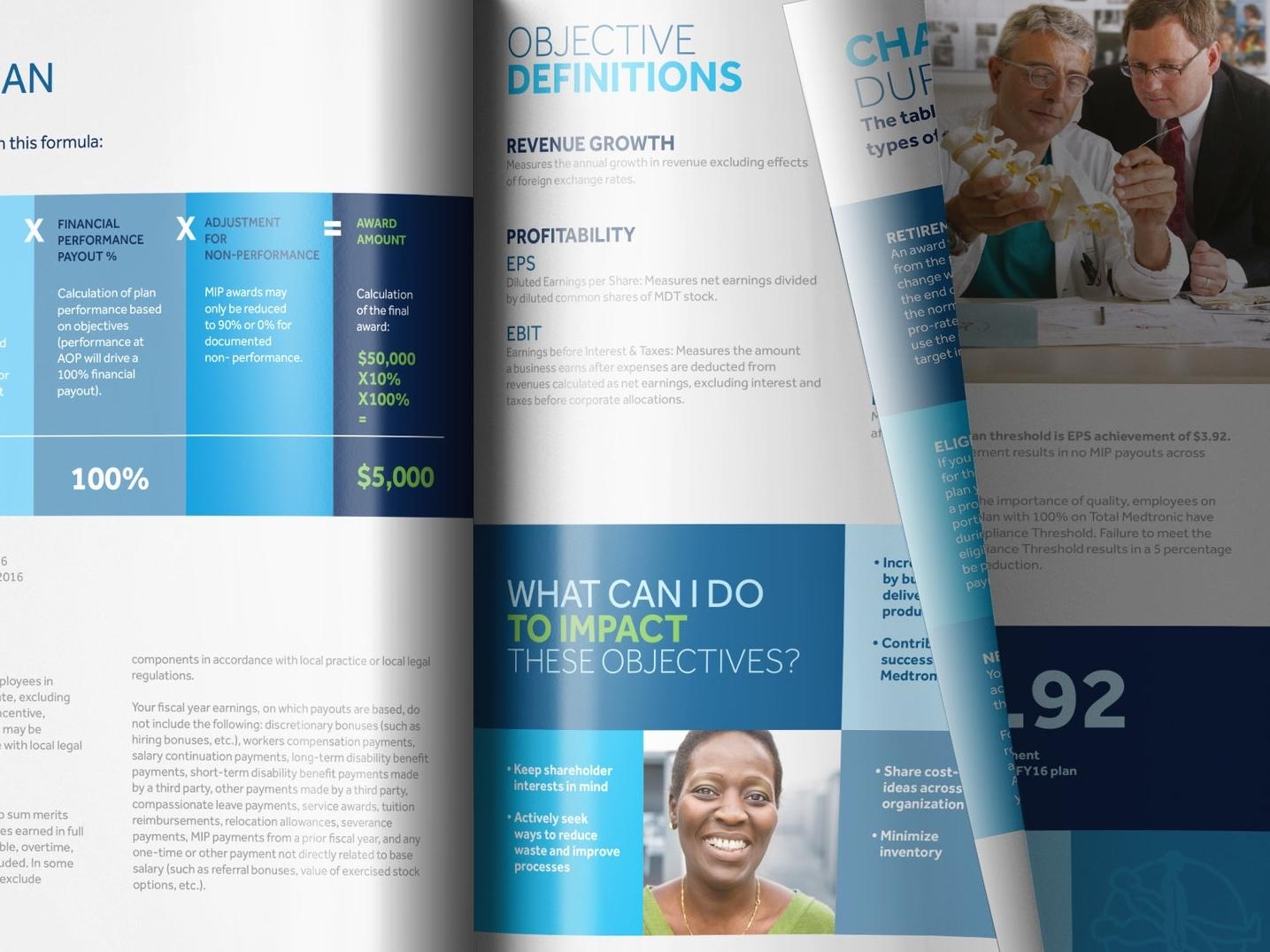 Medtronic Medical Incentive Plan Book Design