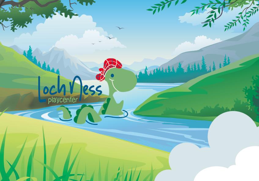 Lochness Play Center for children Brand Identity