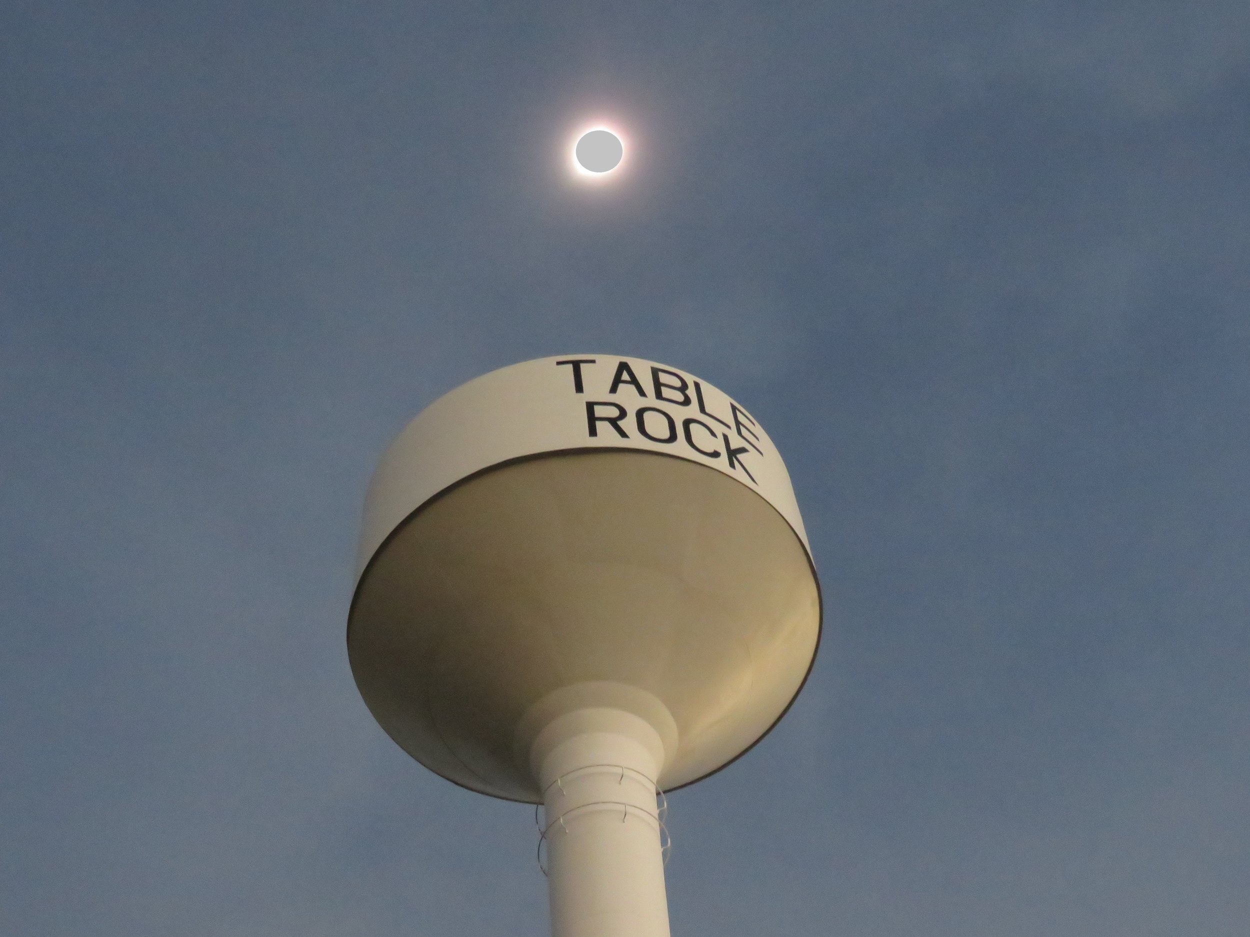 From the line of totality