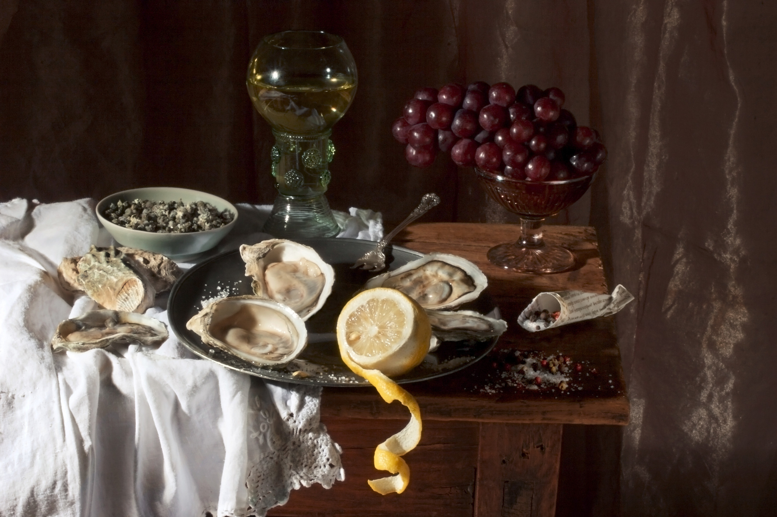 Oysters and Lemon, After W.C.H., 2008