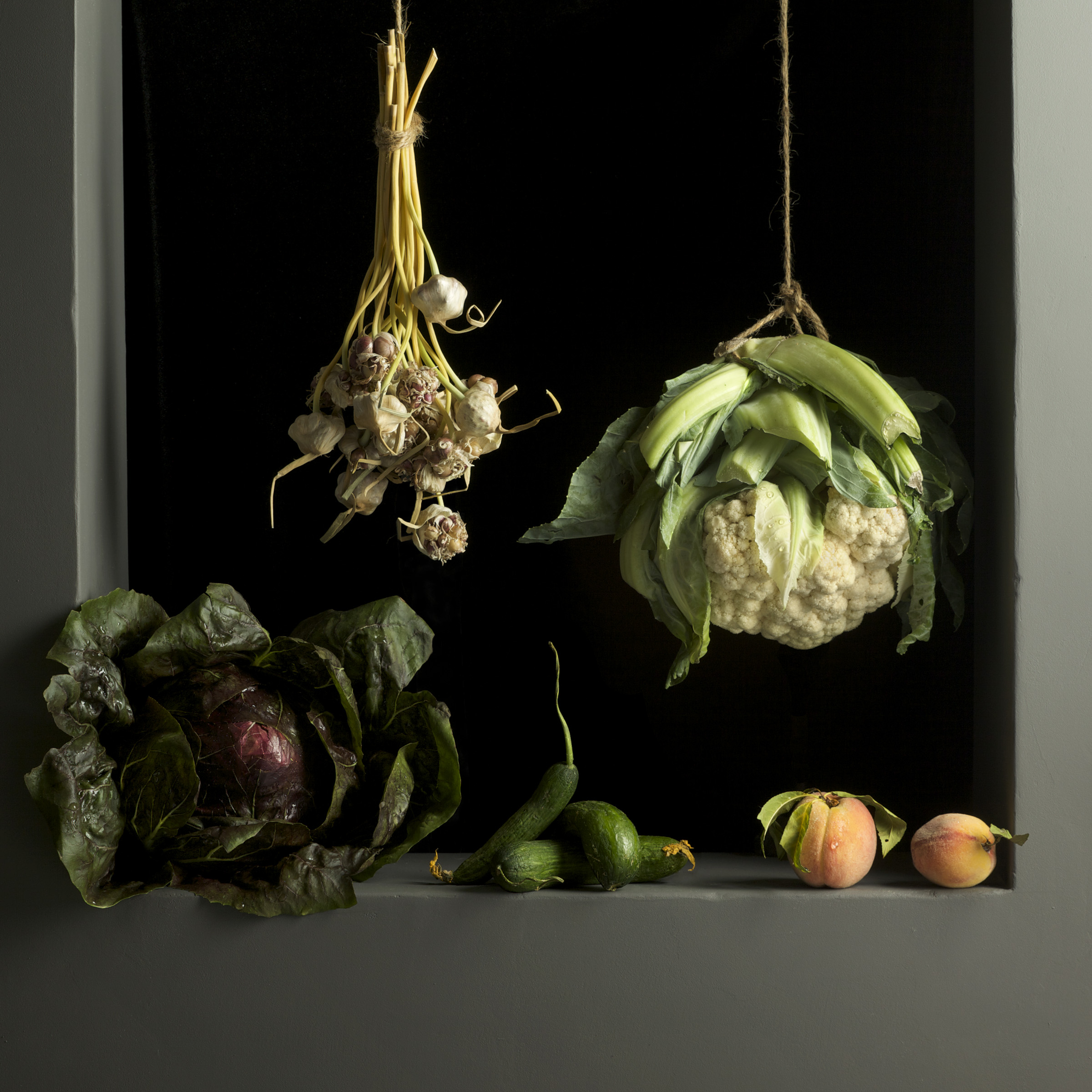Cauliflower and Peaches, After J.S.C., 2010