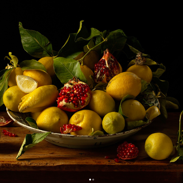 Lemons and Pomegranates, After J.V.H, 2010