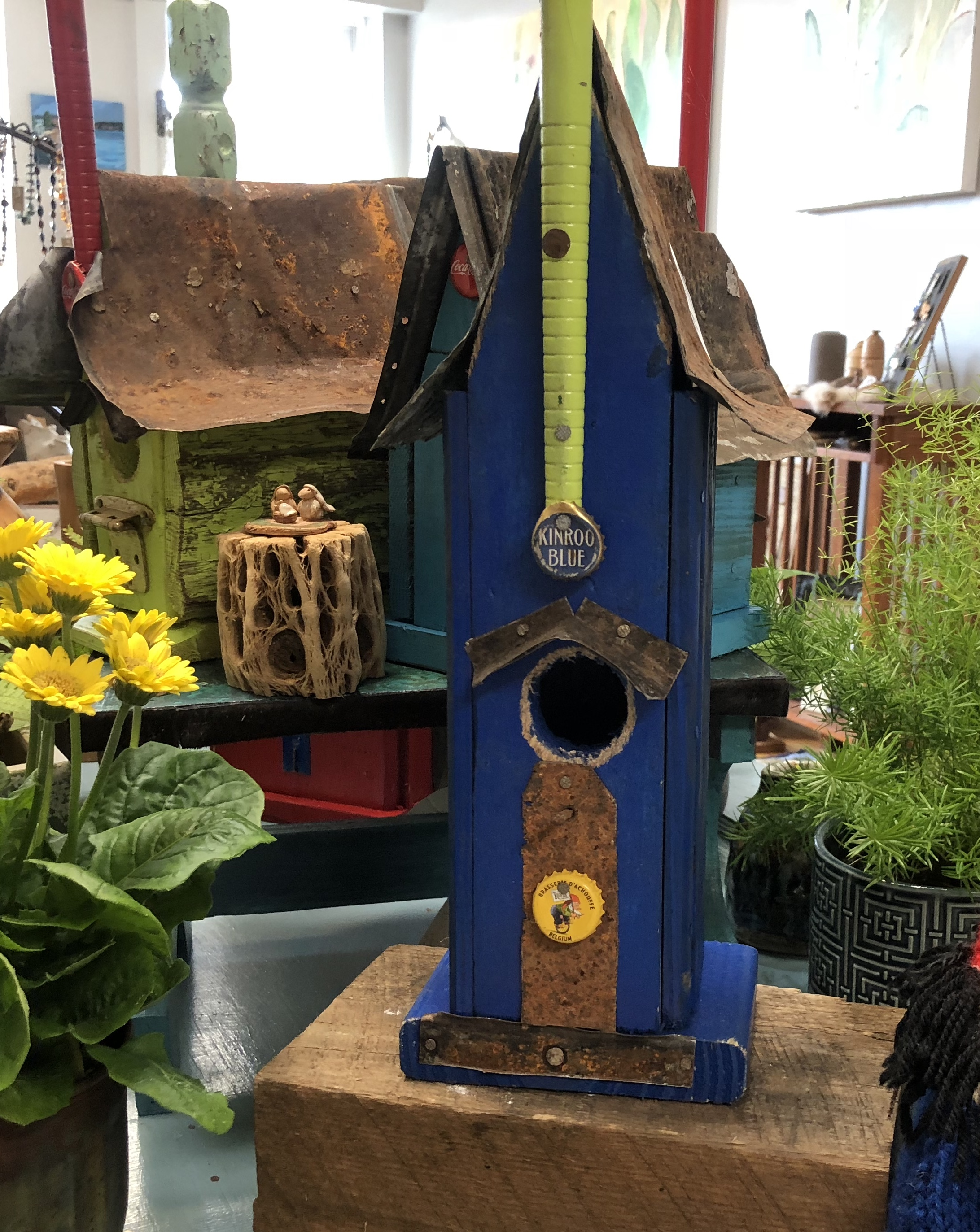 STEVEN NEARY - RECYCLED BIRD HOUSES