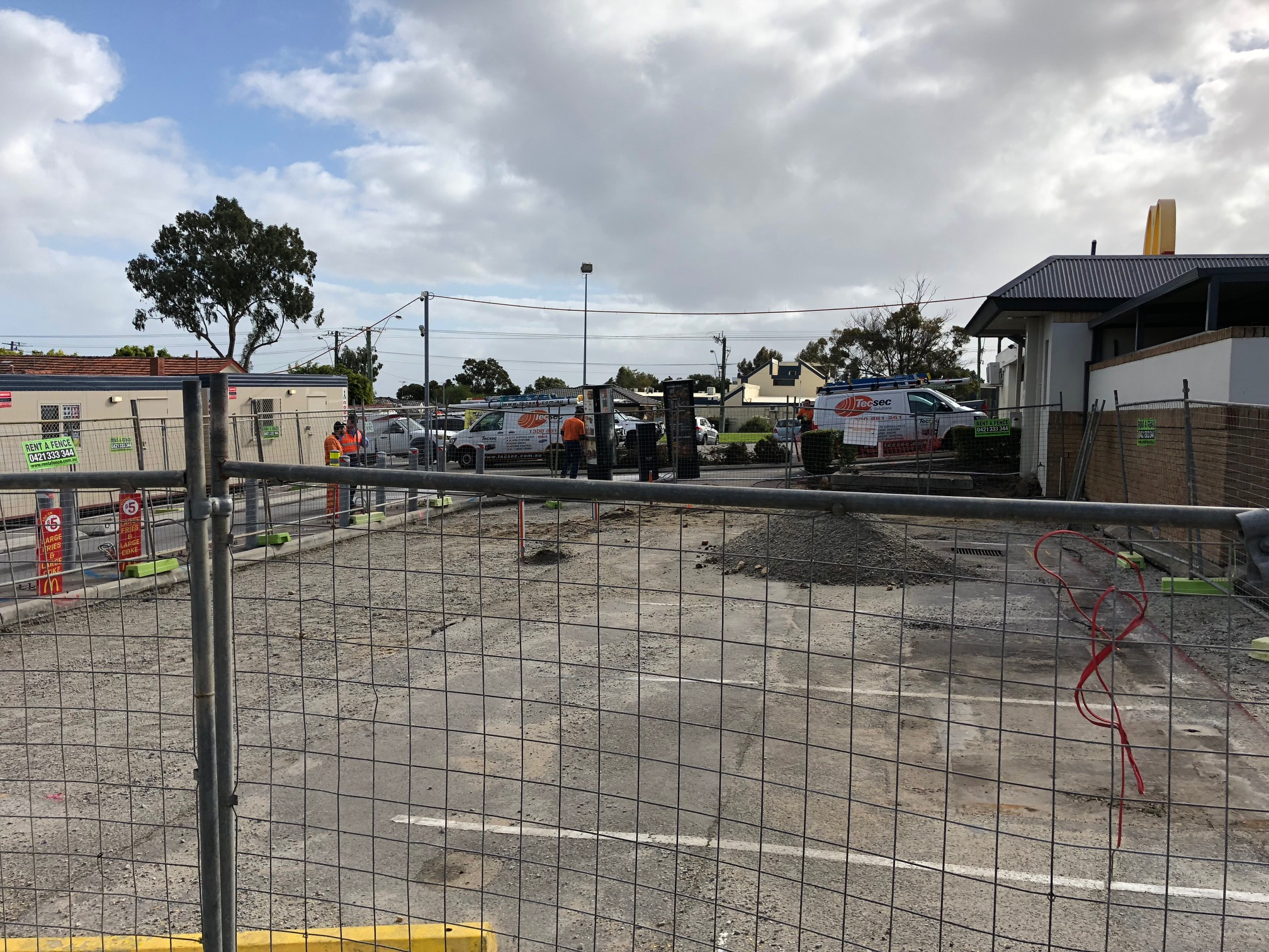 New Dual Lane Drive Thru Works are underway at McDonalds Tuart Hill