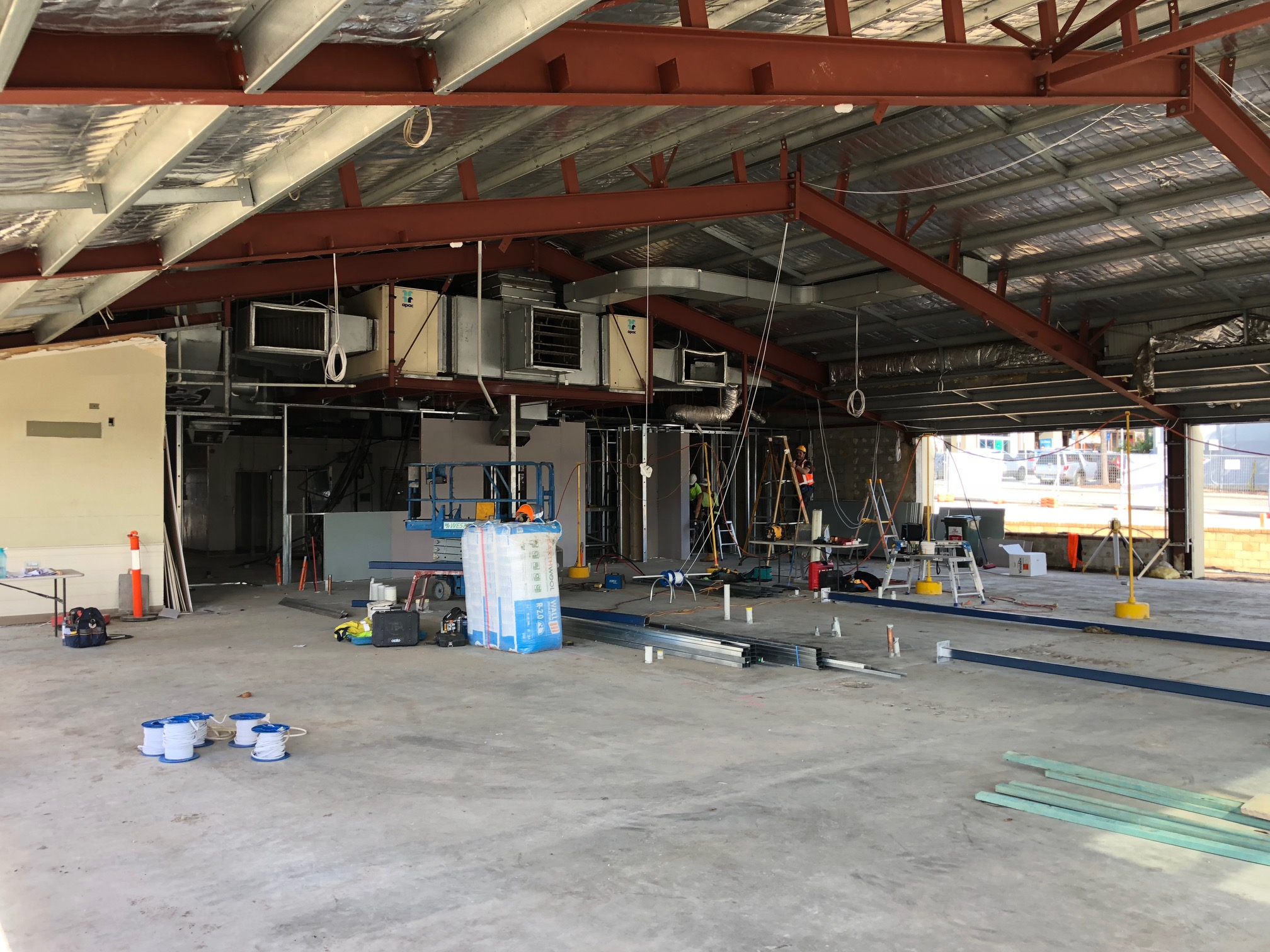 Riverton Bar and Grill - Early days but now is the time to get power, data and AV supports in place so there is no ducking for cover later