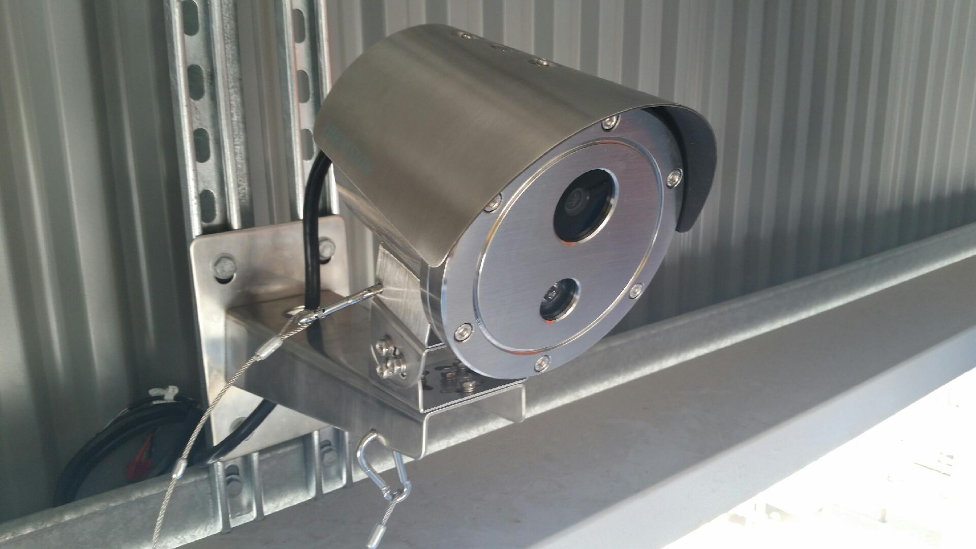 Explosion Proof Camera installed into the Gantry