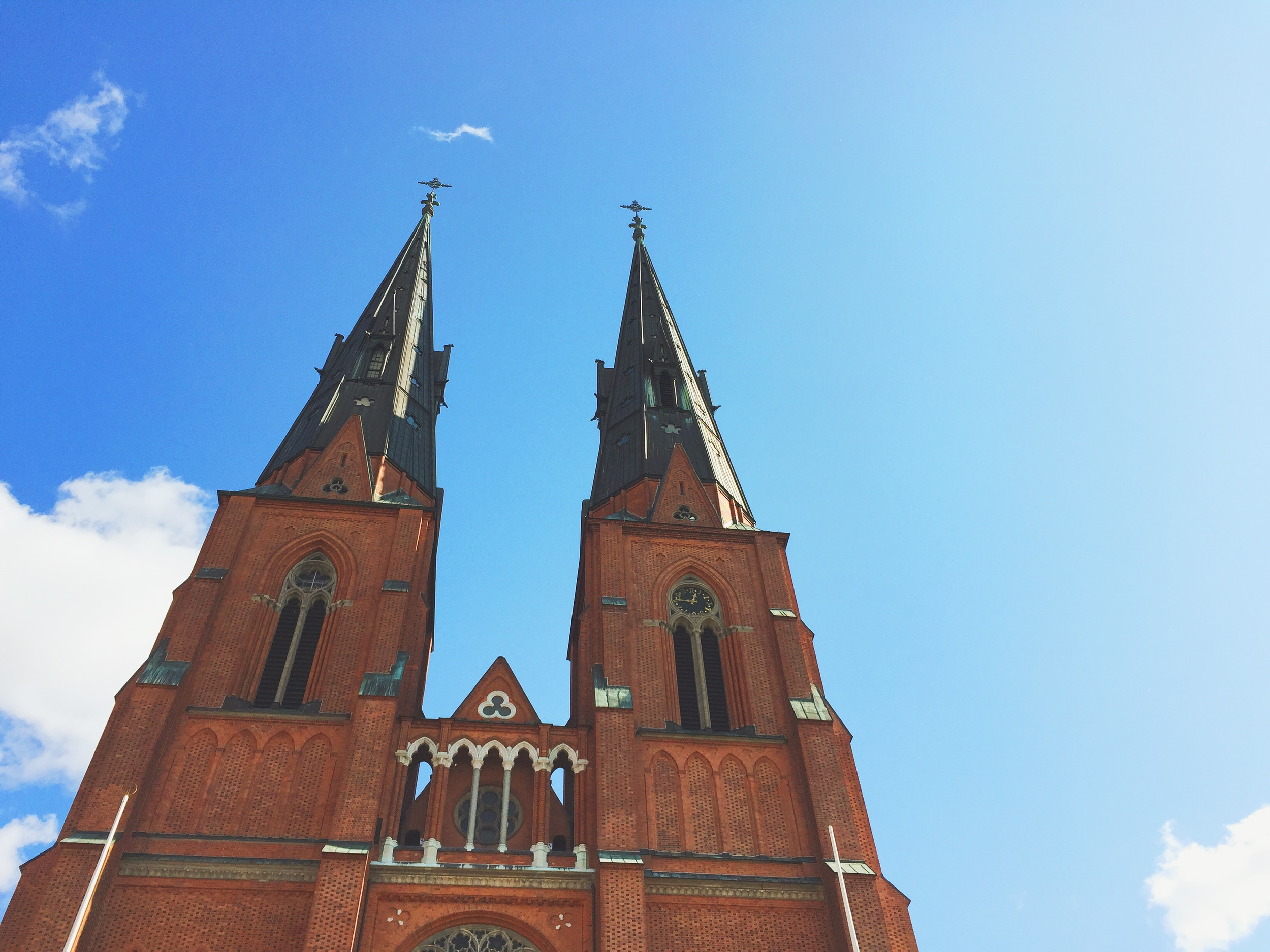 The Uppsala Cathedral, which is Scandinavia's largest and tallest church.