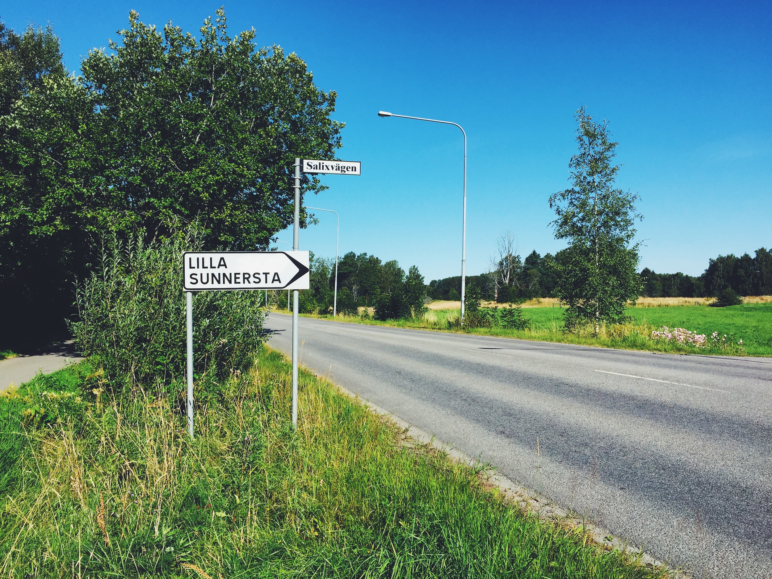 The sign that points to my new temporary home in Uppsala.
