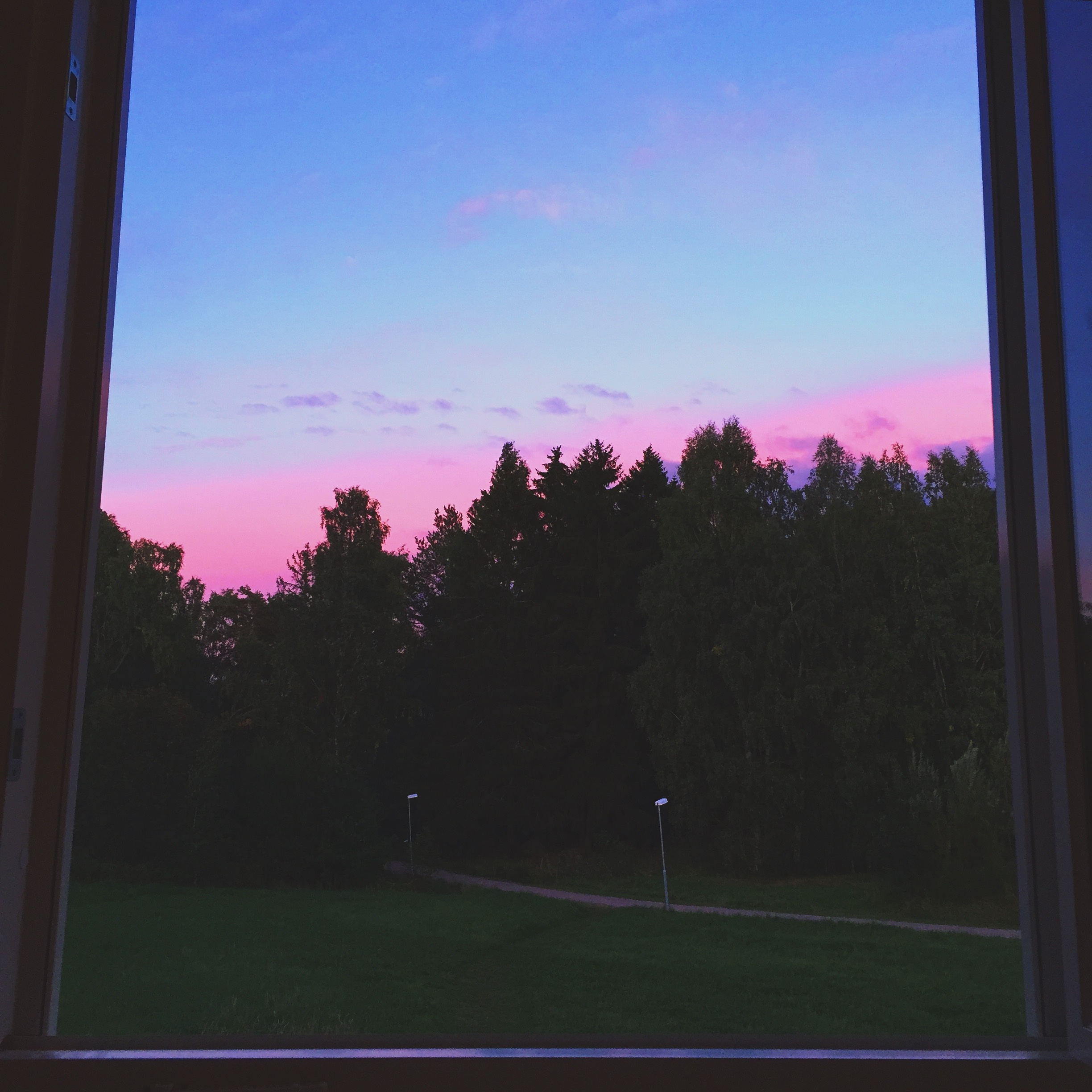 A sunset outside my apartment's window.