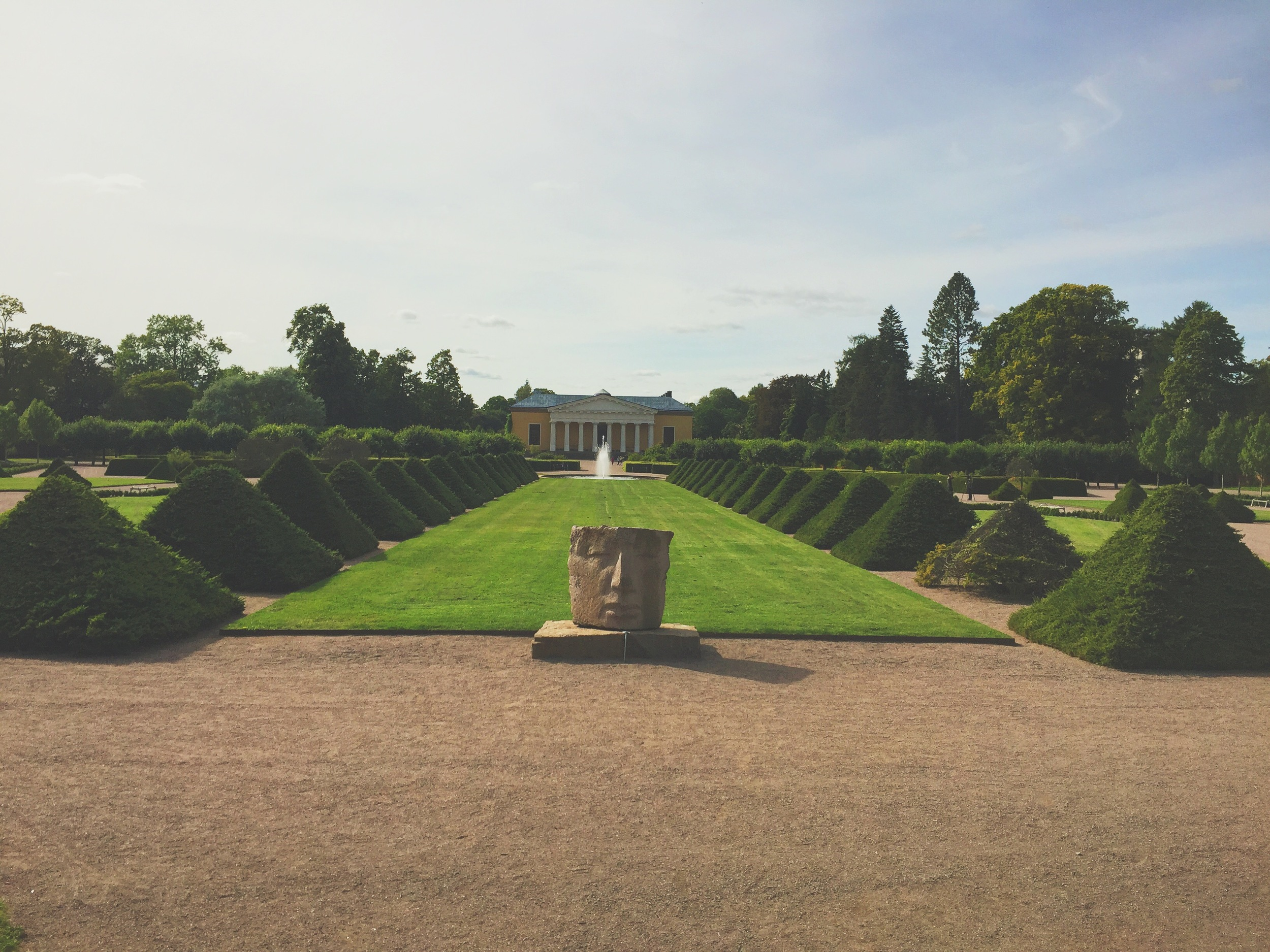 The royal garden, right outside the English Park Campus.
