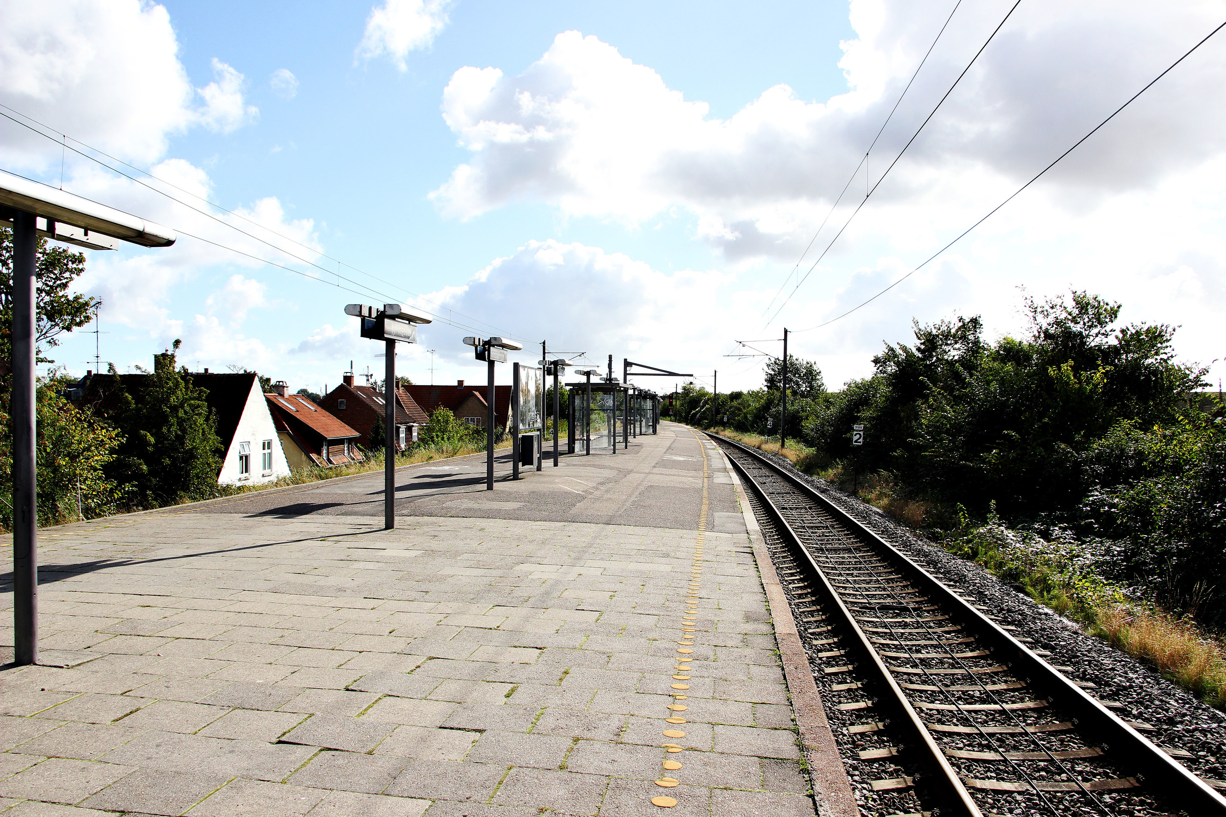 Our shady train station.