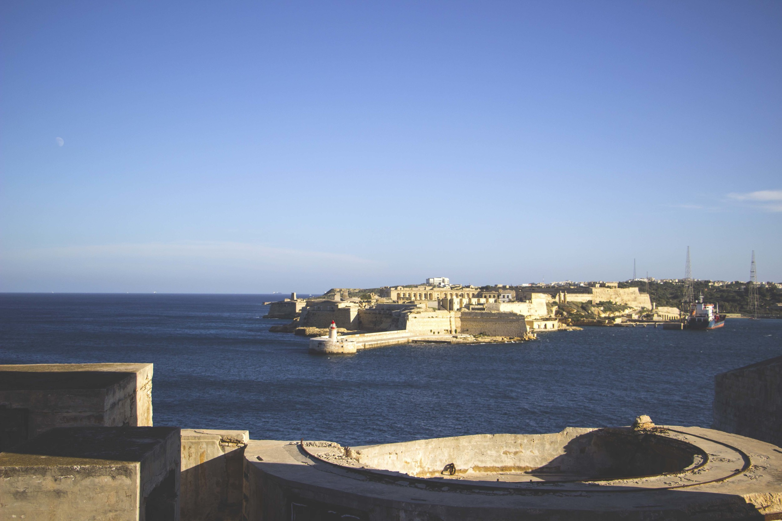 The view from the oceanside of Valletta, Malta.