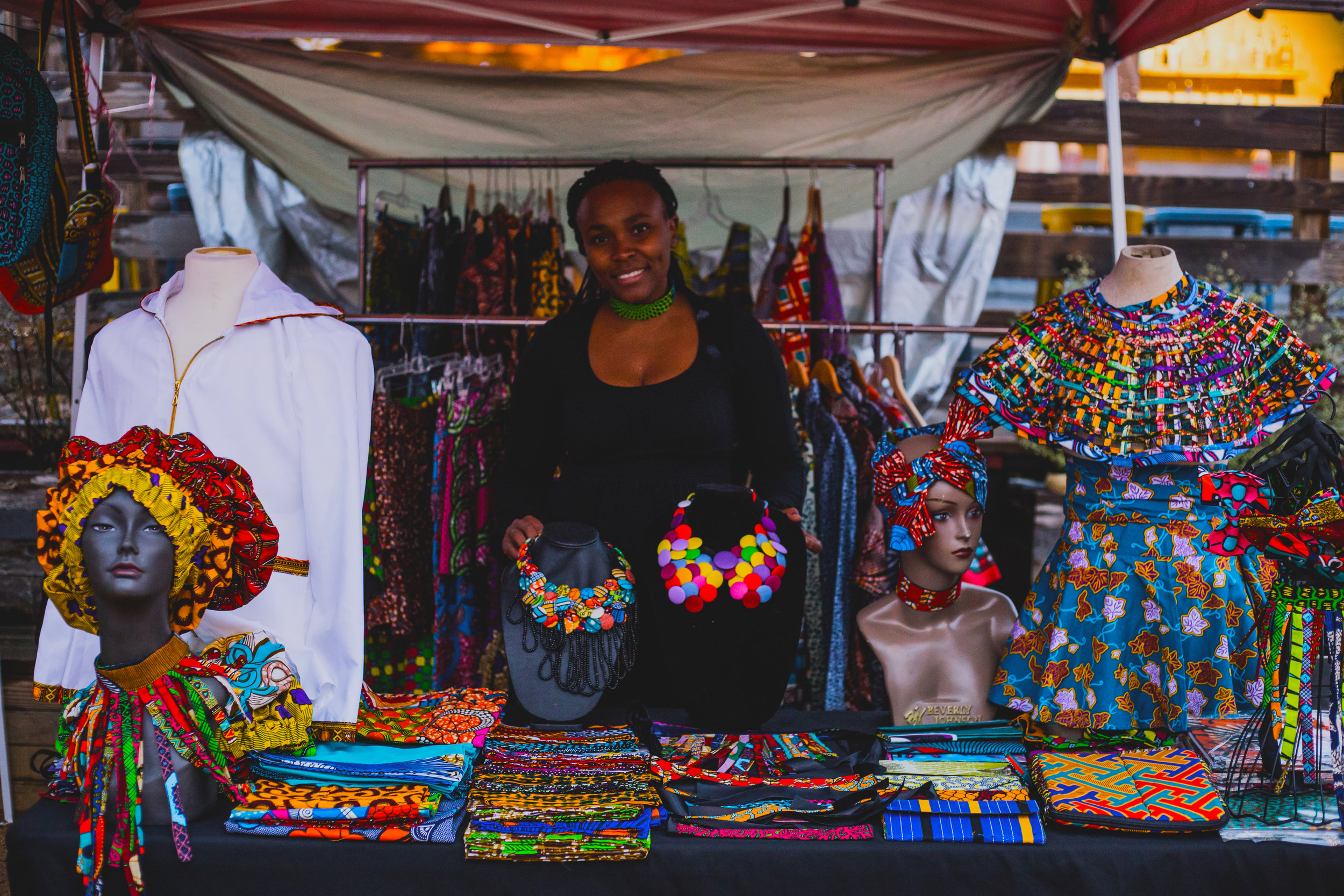 Shavanthe Inc. - Founded by Theo Shayo, Shavanthe is a colorful multicultural clothing brand. Showcasing prints from all over the world, Shavanthe's line features dresses, necklaces, headwraps, hoodies and more. You can support Theo by—duh—purchasing her clothes!