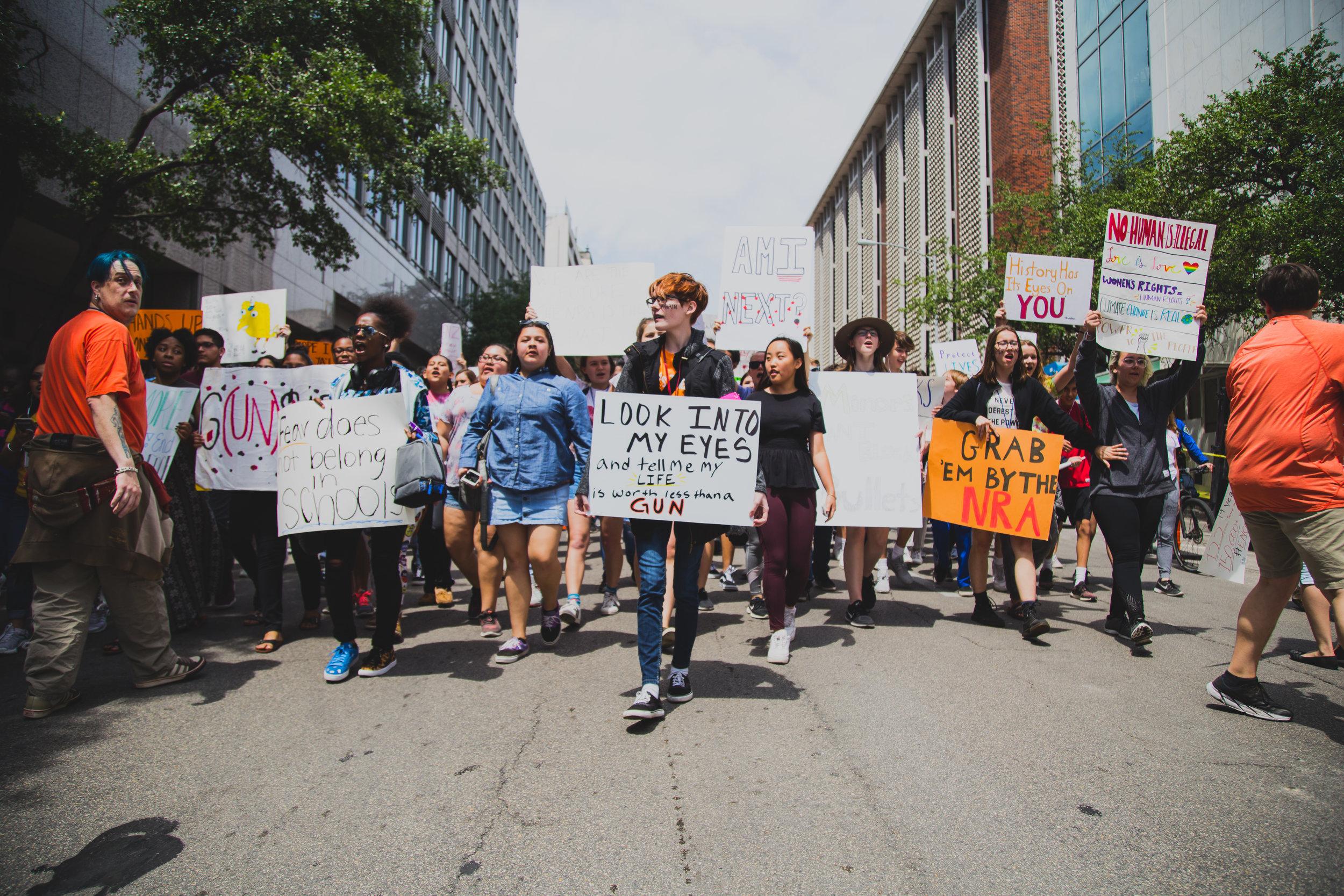 The National School Walkout in Austin, TX.