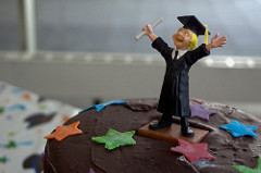 "Image: Flickr user  David Goehring , ""Graduation Cake Guy"";  Creative Commons"