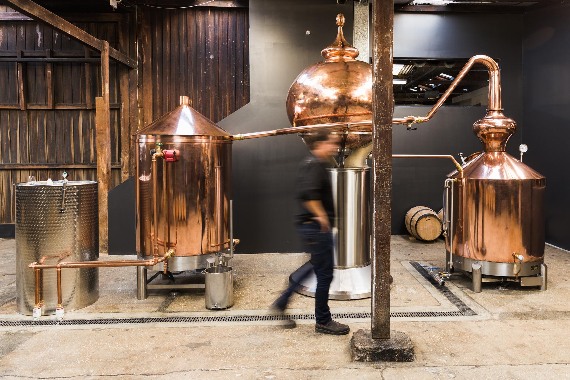 Willie Smith's unique purpose-built copper still. Where the magic happens!