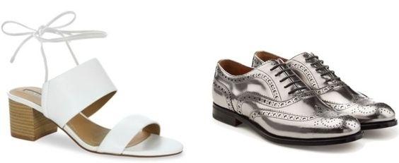 Tahari Doe Tie Back Mid Heel Sandals from BELK.COM $89    Similar metallic oxfords from Lordandtaylor.com $74