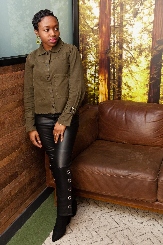 grommet leather pants