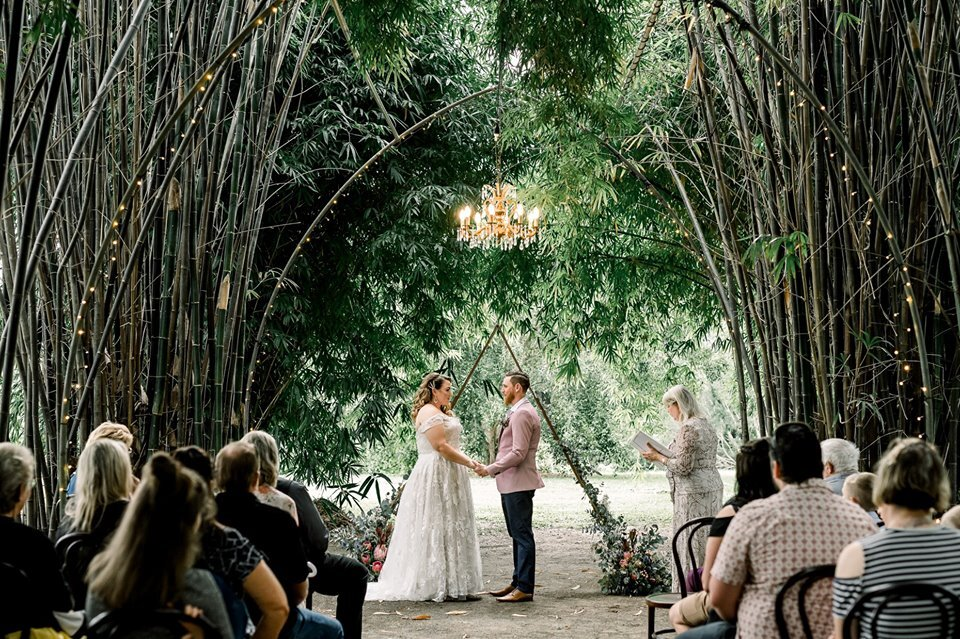 A magical small ceremony for Rhiannon and Tim's micro-wedding at Laloli: photo credit Rachelle Angela Photography