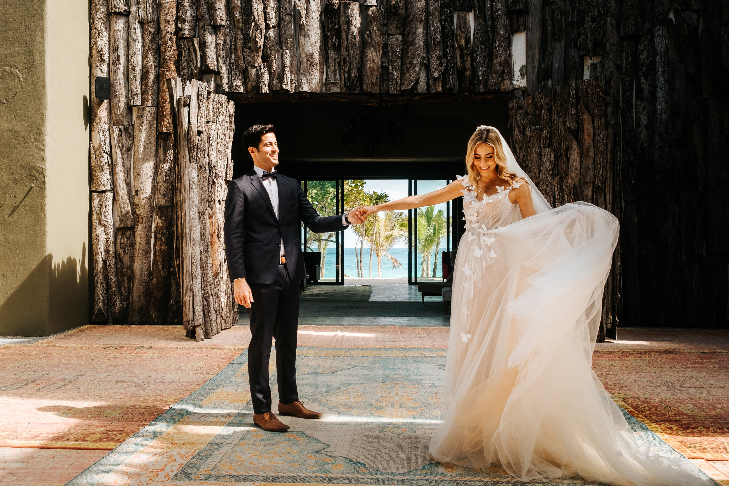 Lourdes & Oscar - Dreamy wedding at Tulum, Mexico