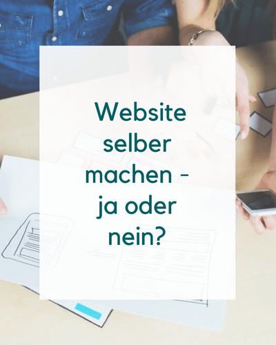 Homepage selber machen pro und contra