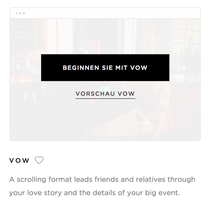 @Squarespace - Vorschau / Demo-Rundgang Template 'Vow'
